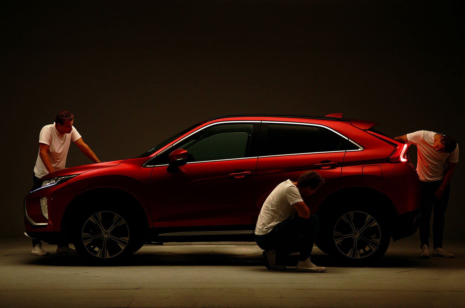 Mitsubishi Eclipse Cross in the studio