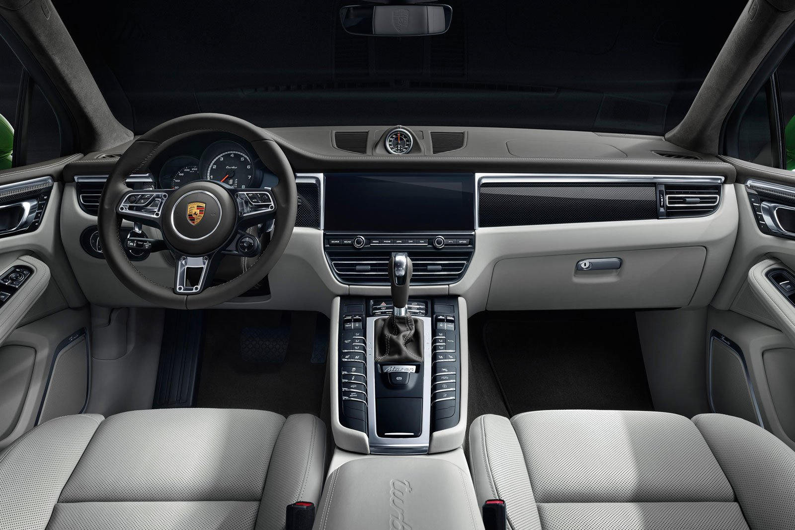 2019 porsche macan turbo interior dashboard