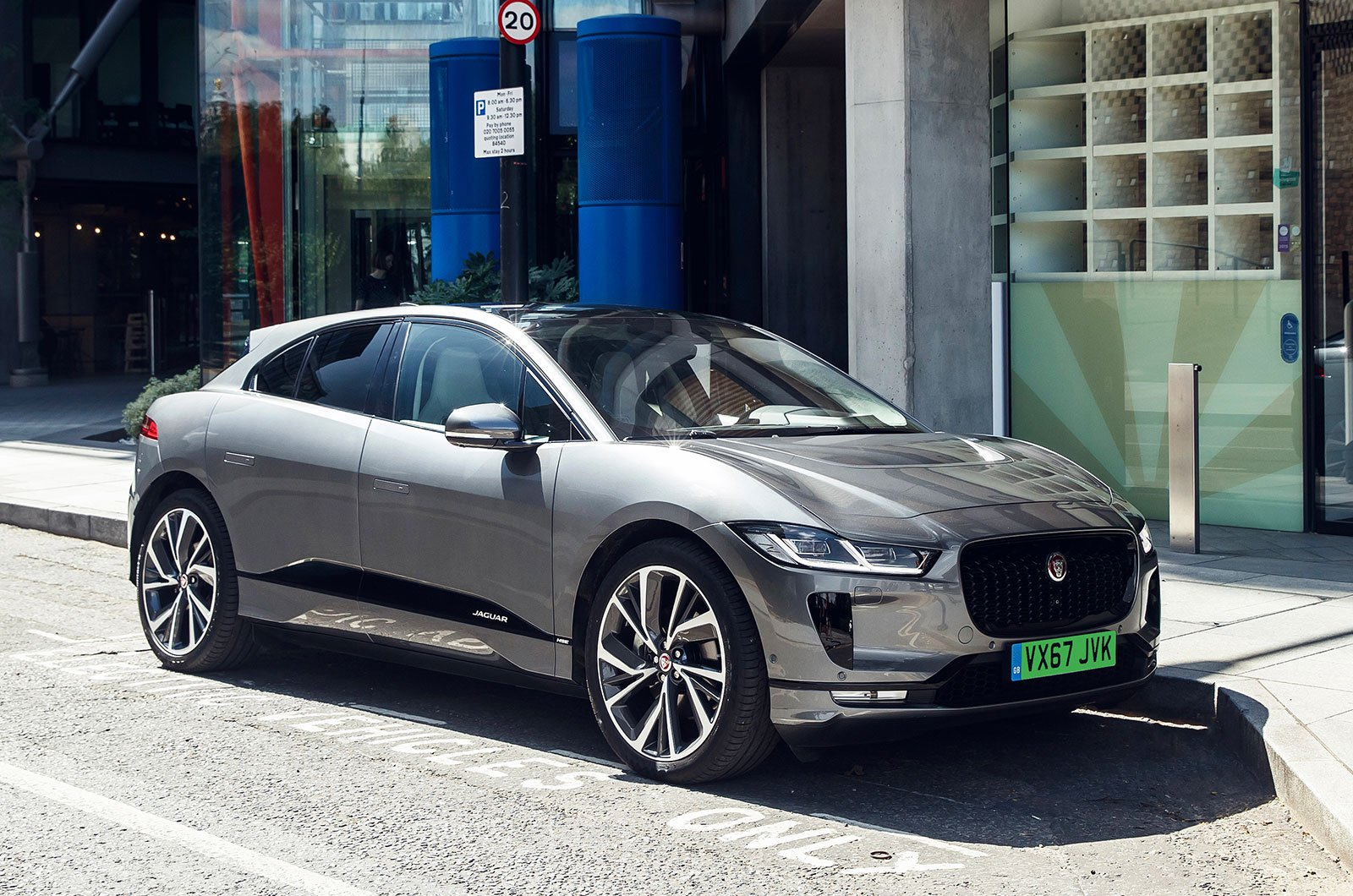 Jaguar I-Pace with green numberplate