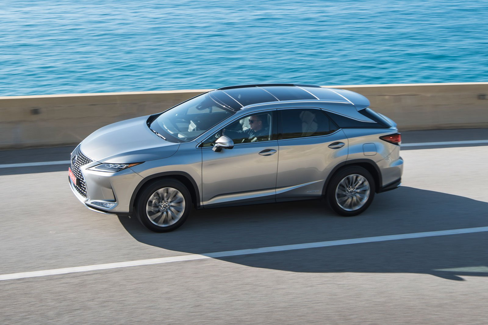 2020 lexus rx silver driving side profile