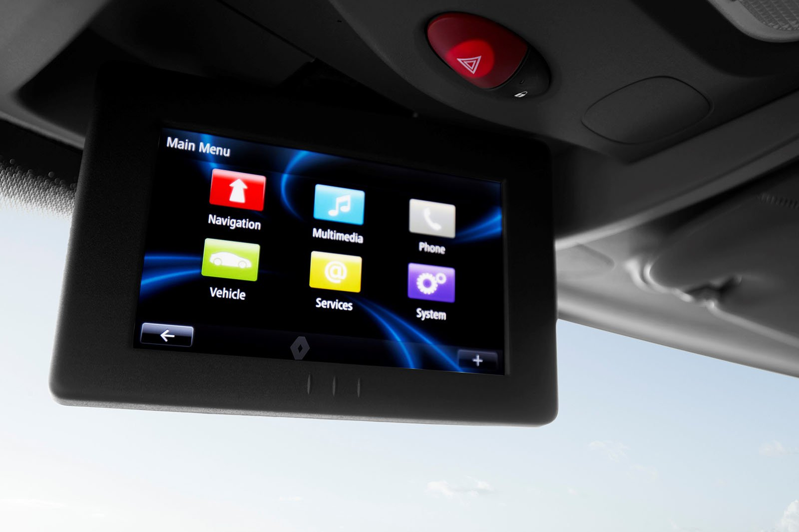 Renault Master ZE infotainment screen