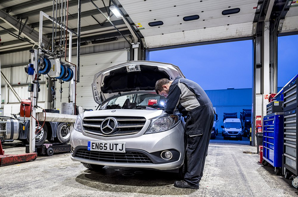 Mercedes Citan being serviced
