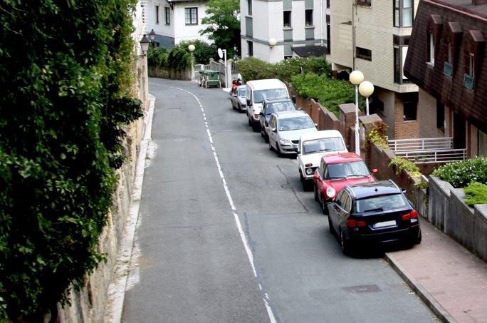 Parking on pavement