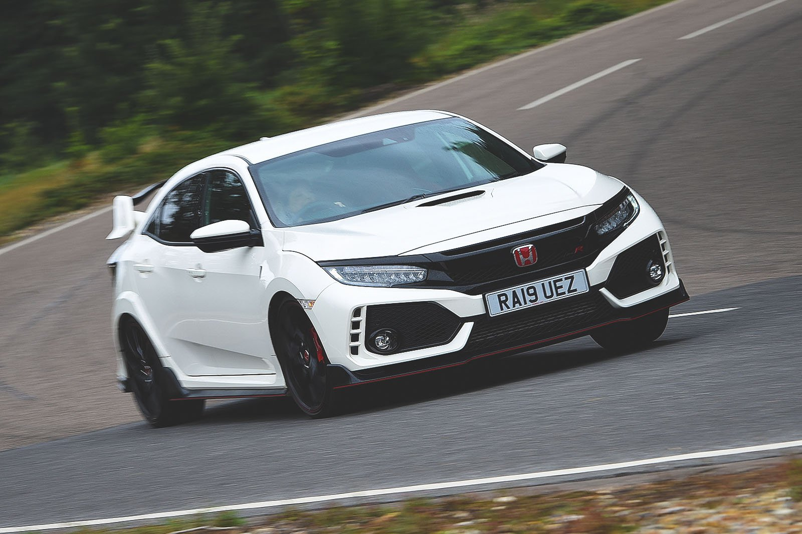 Honda Civic Type R driving