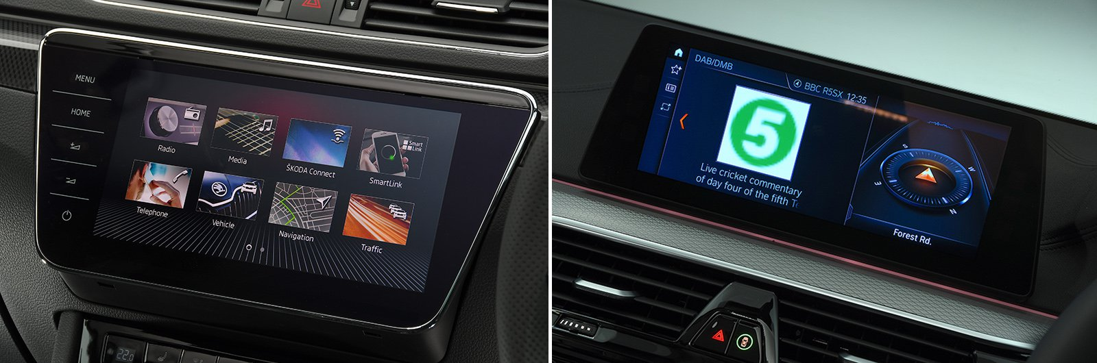 Superb vs 5 Series infotainment