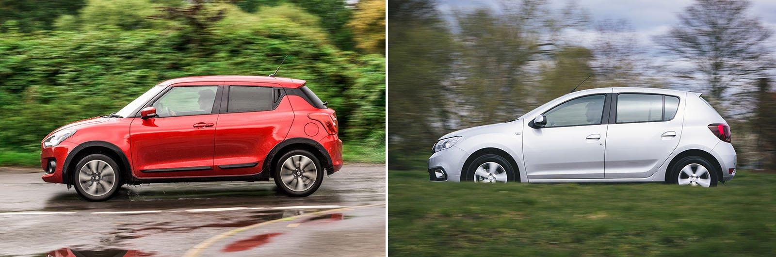 Used Suzuki Swift vs Sandero