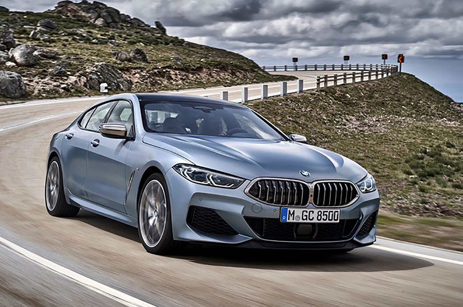 BMW 8 Series Gran Coupé front three quarters