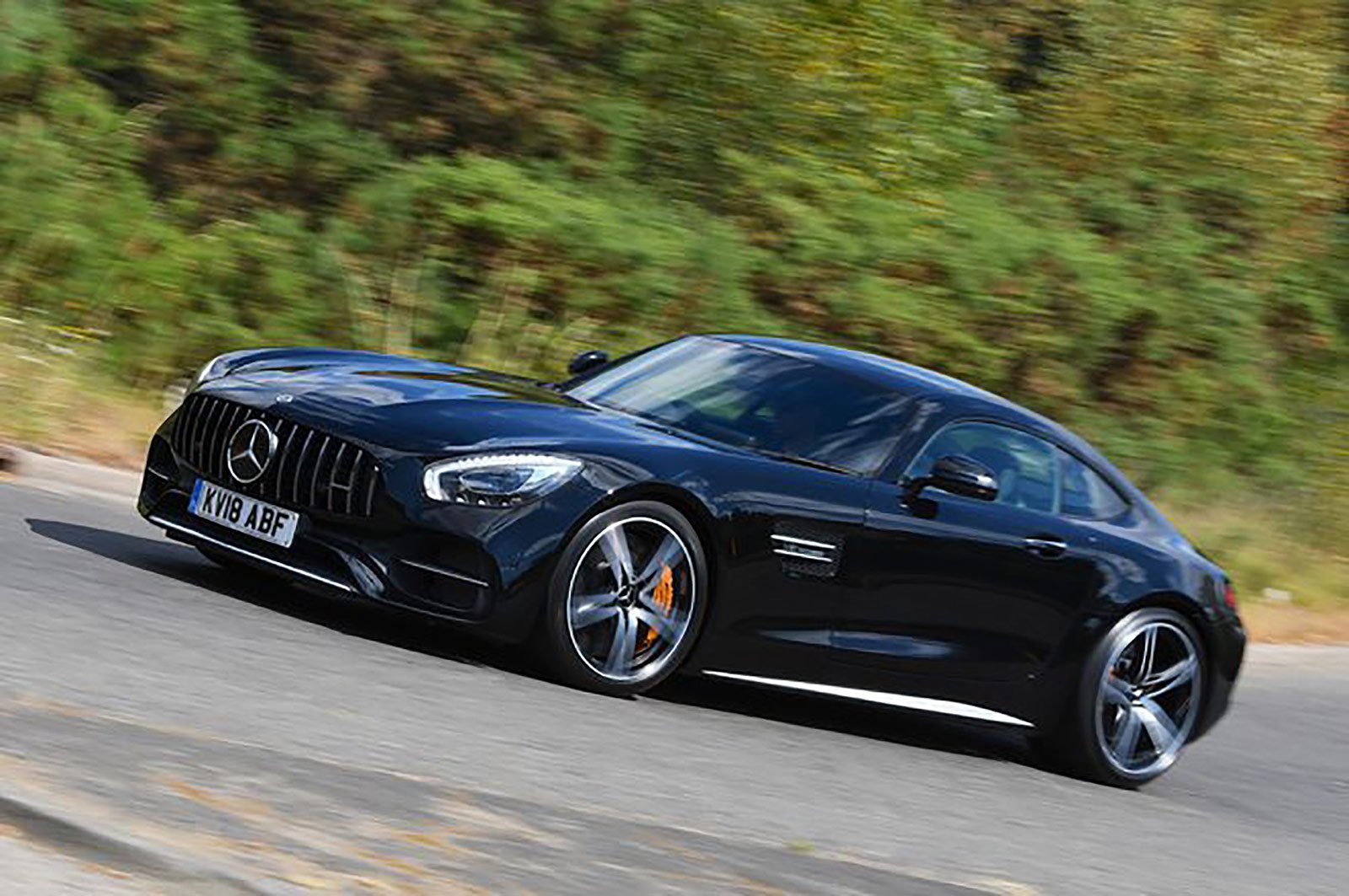 Mercedes-AMG GT coupé front and side