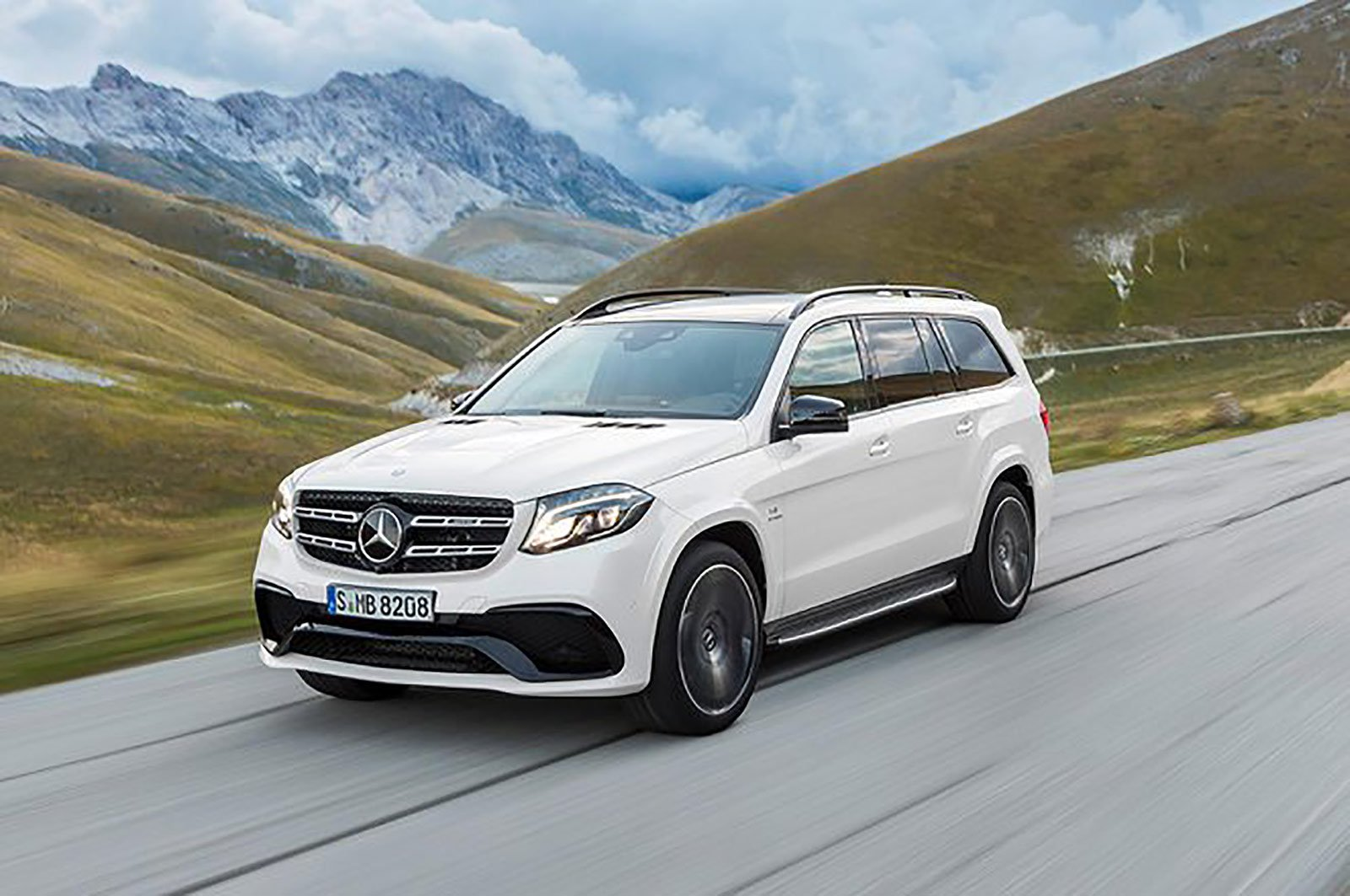 Mercedes-Benz GLS front and side