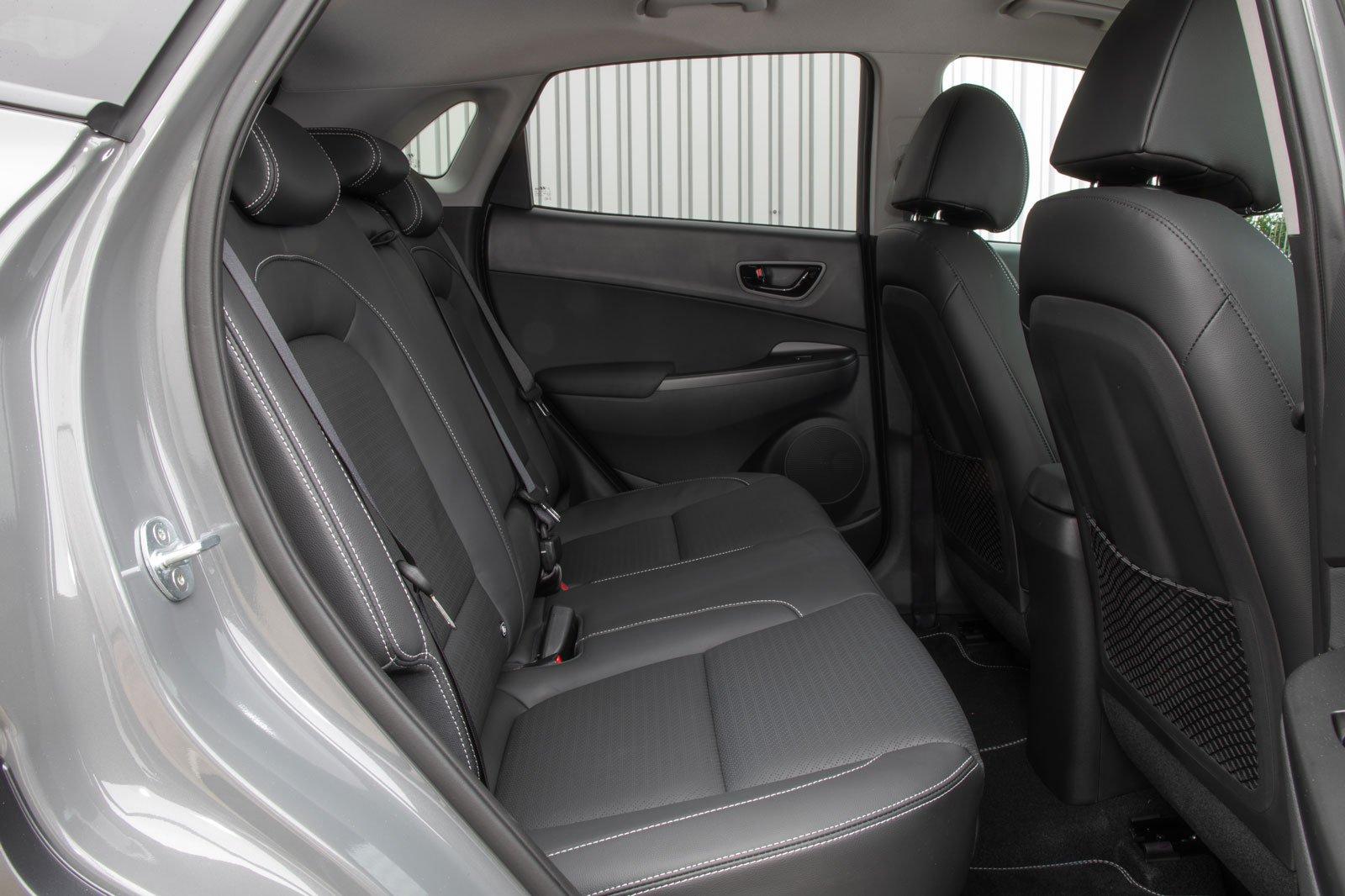 2019 hyundai kona hybrid interior rear seats