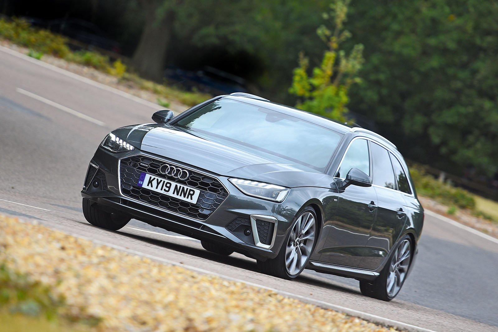 Audi A4 Avant driving