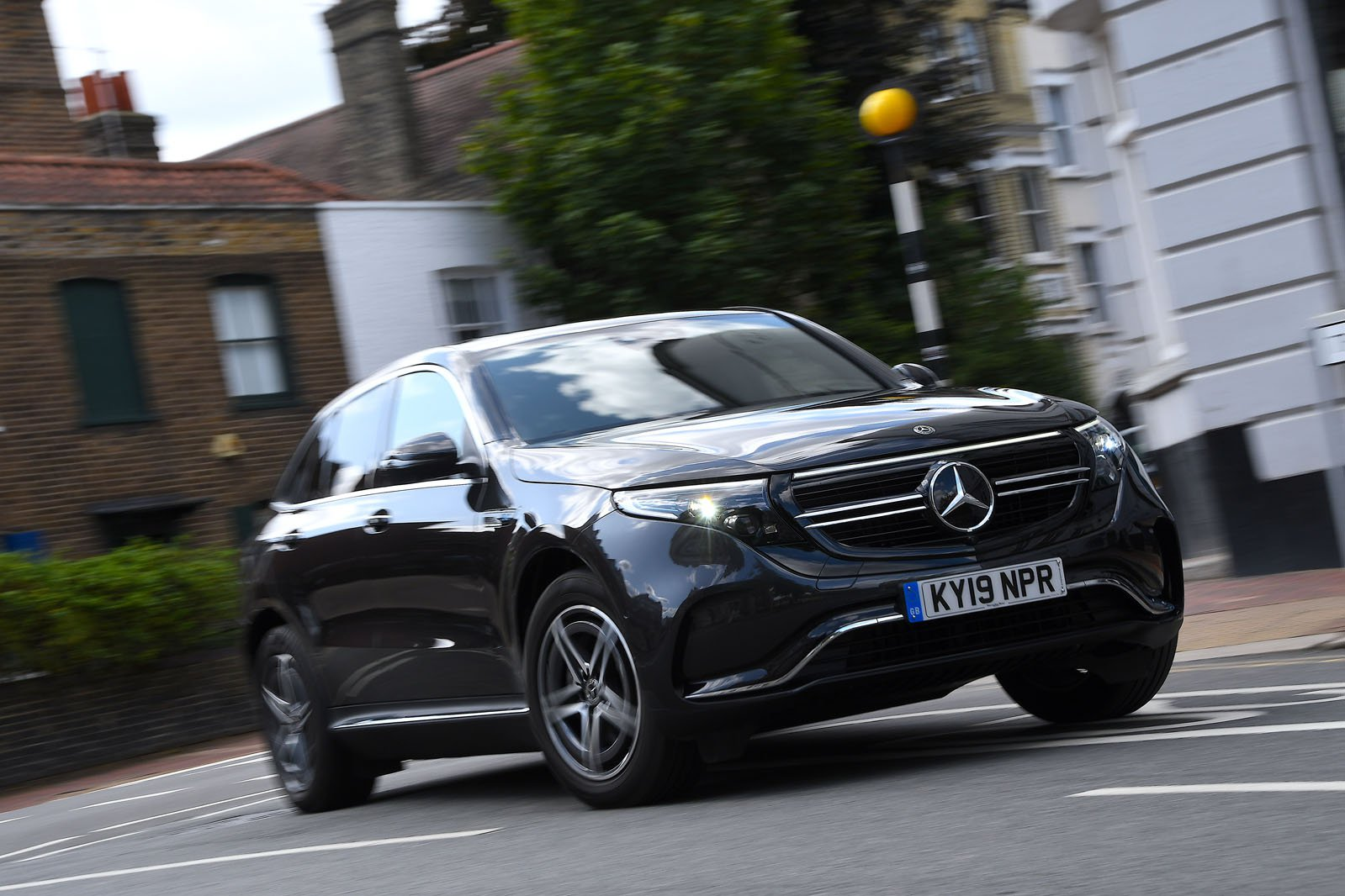 Mercedes EQC driving