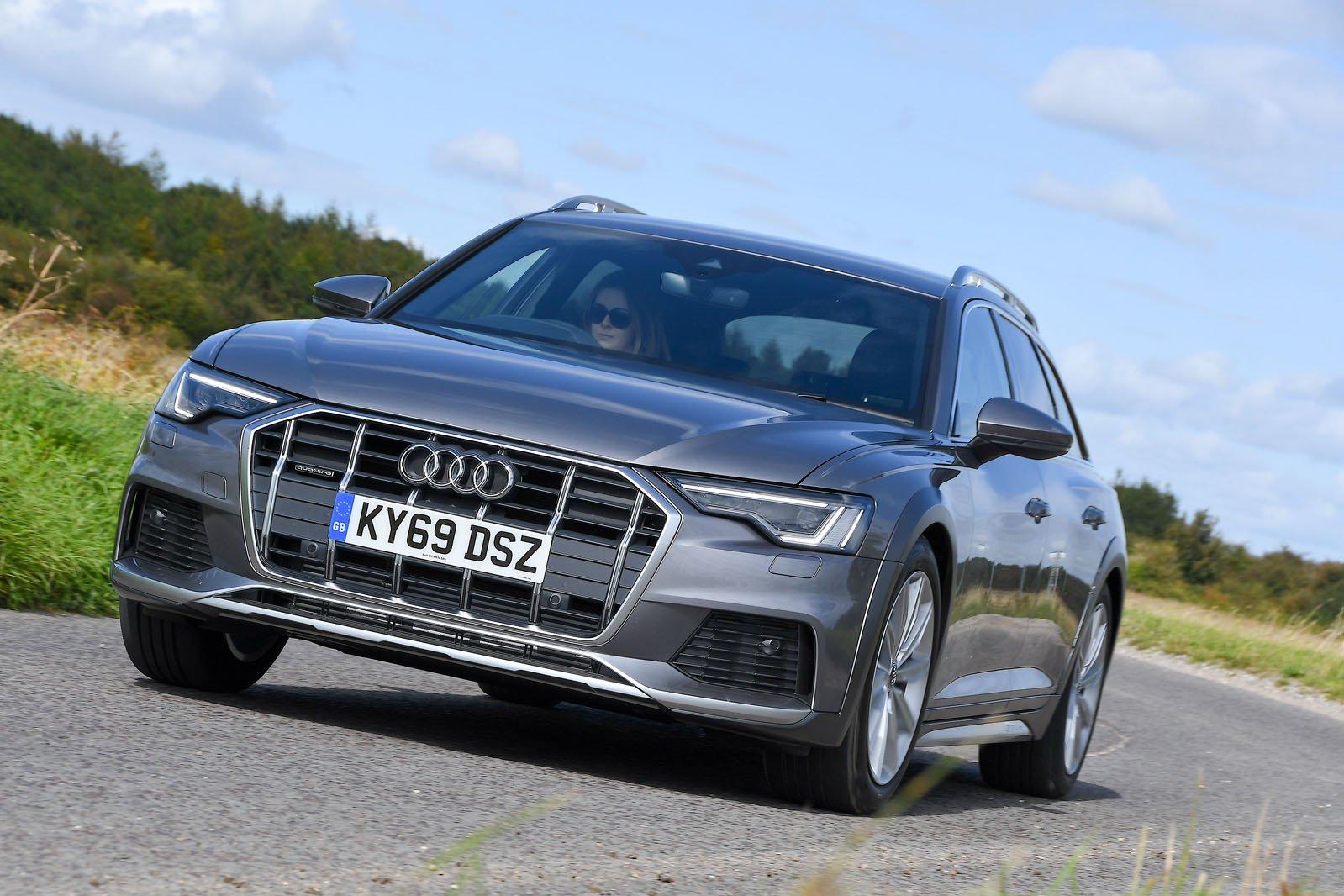Audi A6 Allroad driving