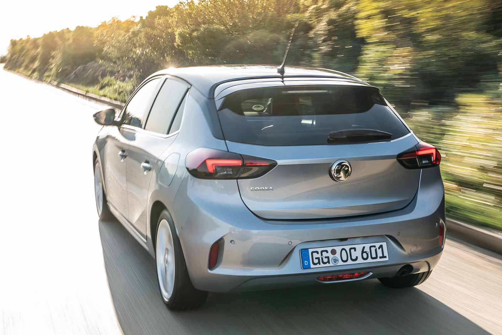 Vauxhall Corsa 2019 LHD rear tight tracking view