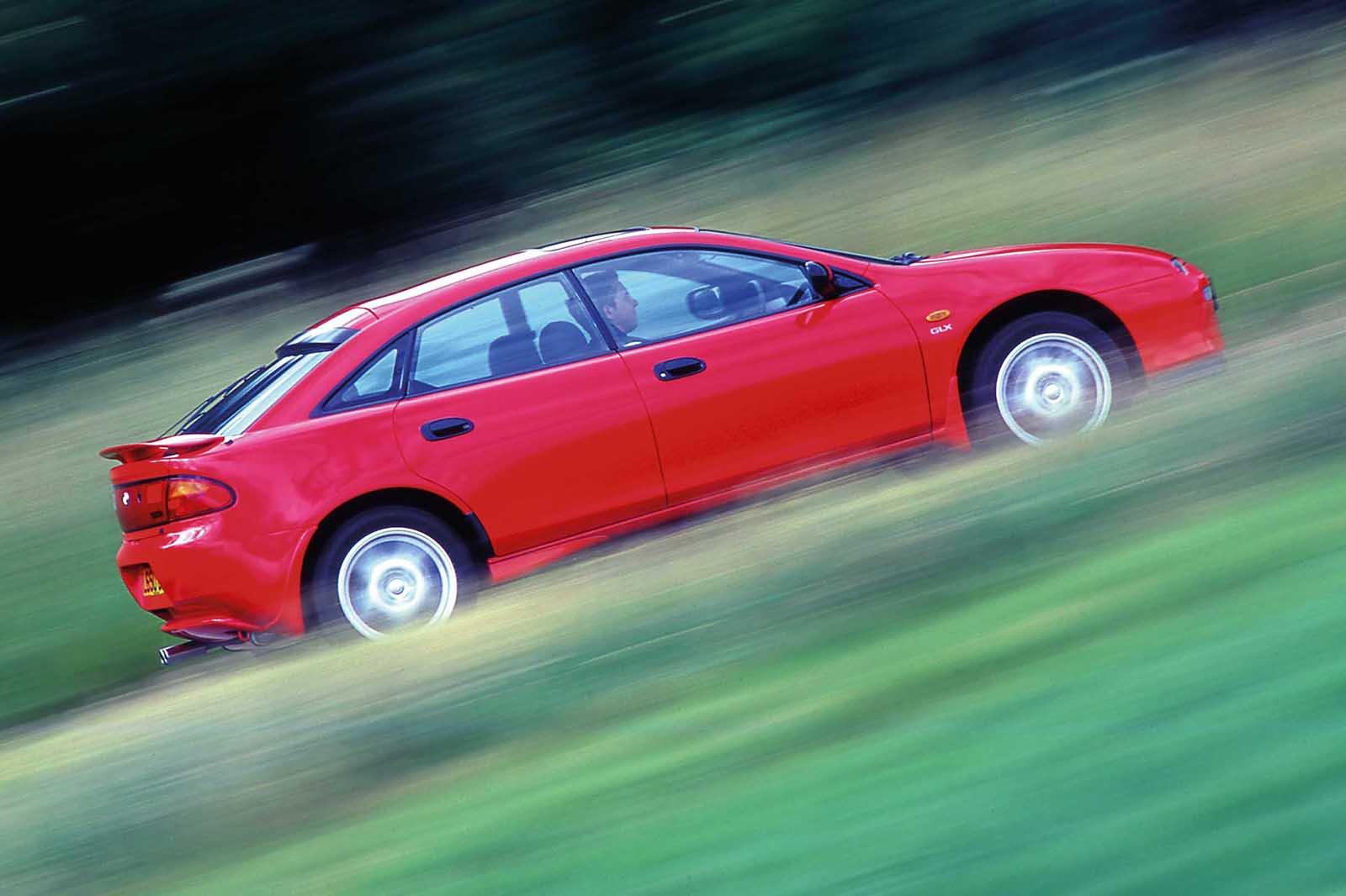 Mazda 323 side shot
