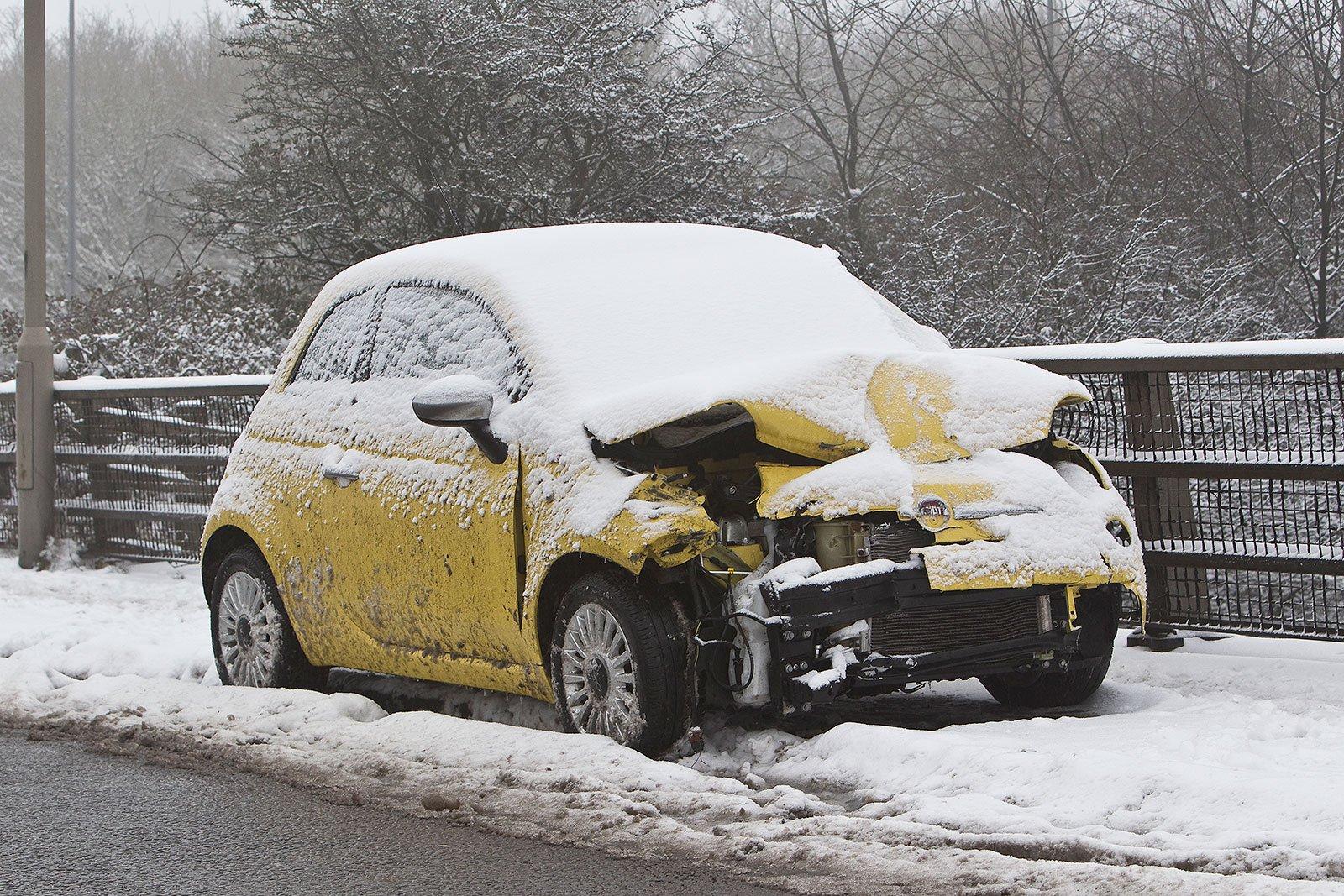 Crashed Fiat 500