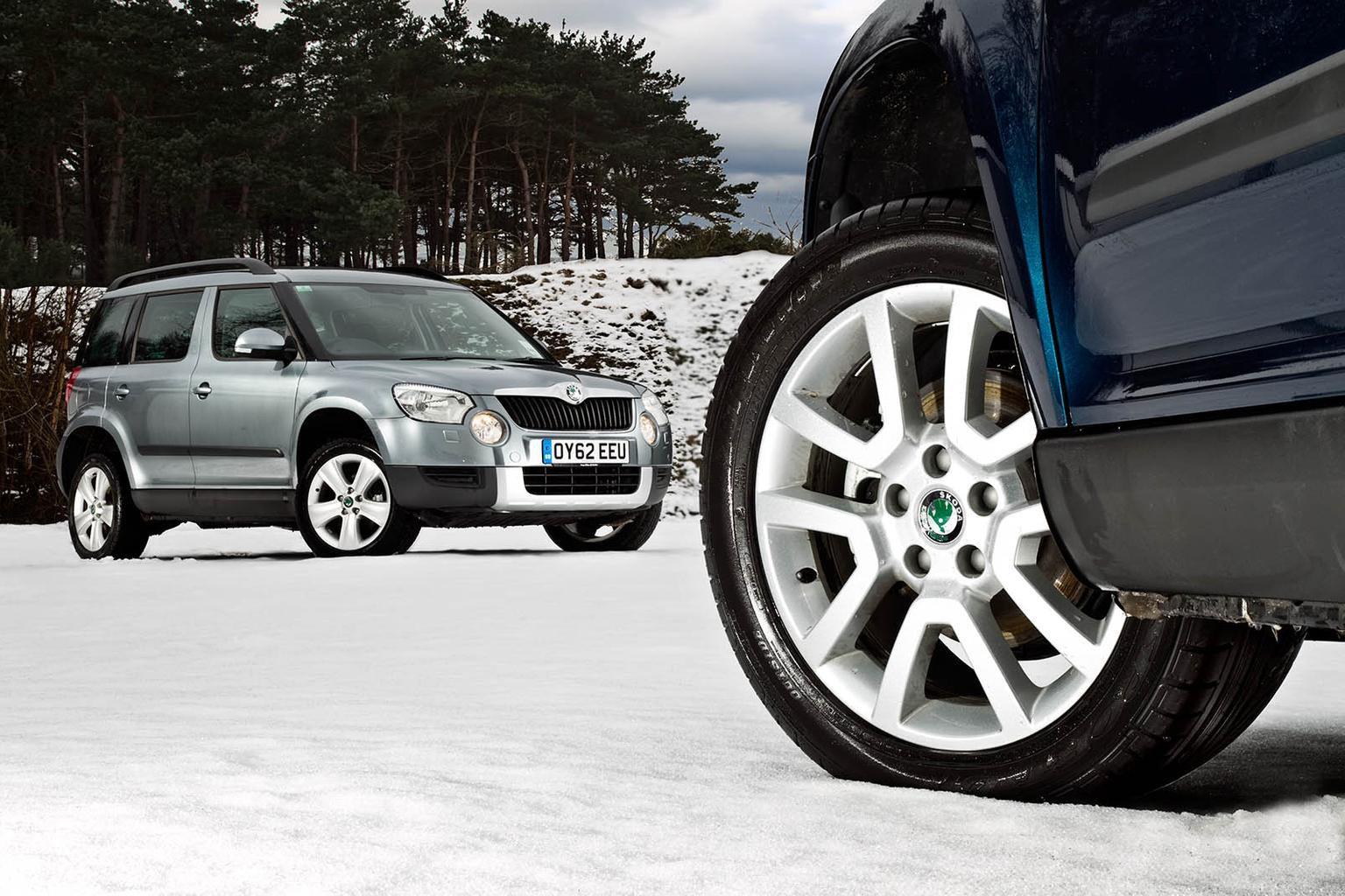 Winter tyres on Skoda Yeti