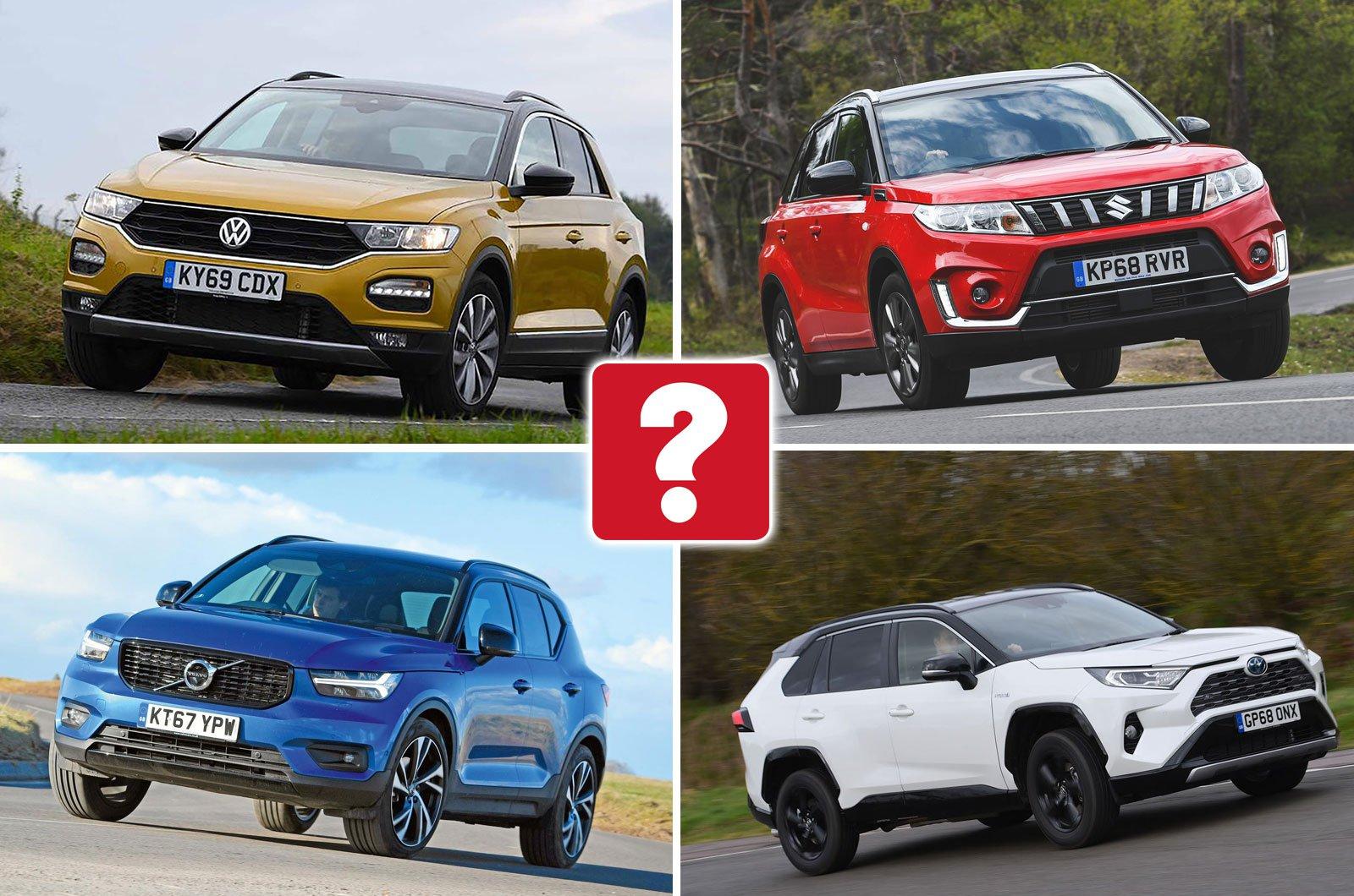 Volkswagen T-Roc, Suzuki Vitara, Volvo XC40, Toyota RAV4