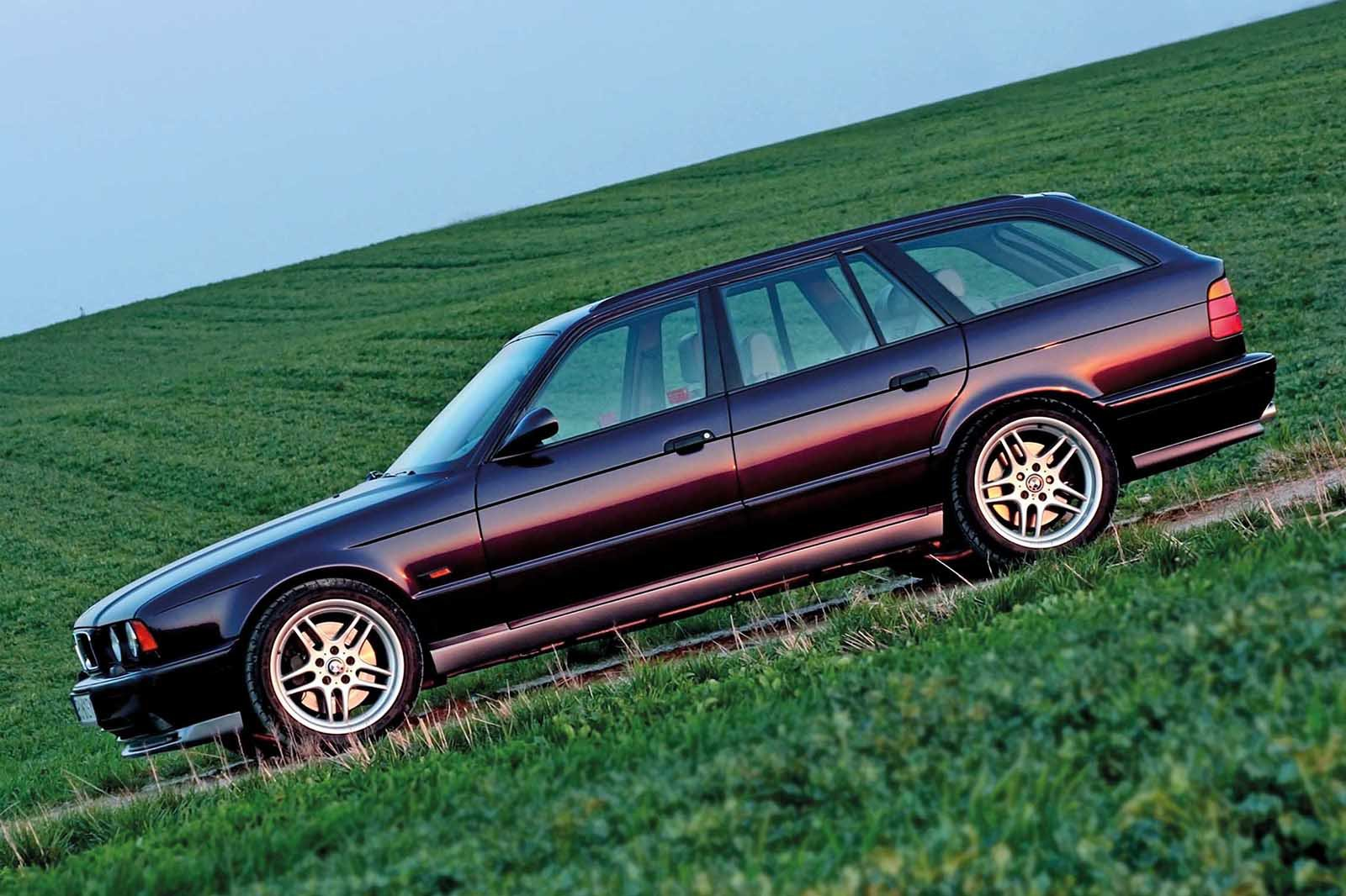 BMW 540i V8 side shot