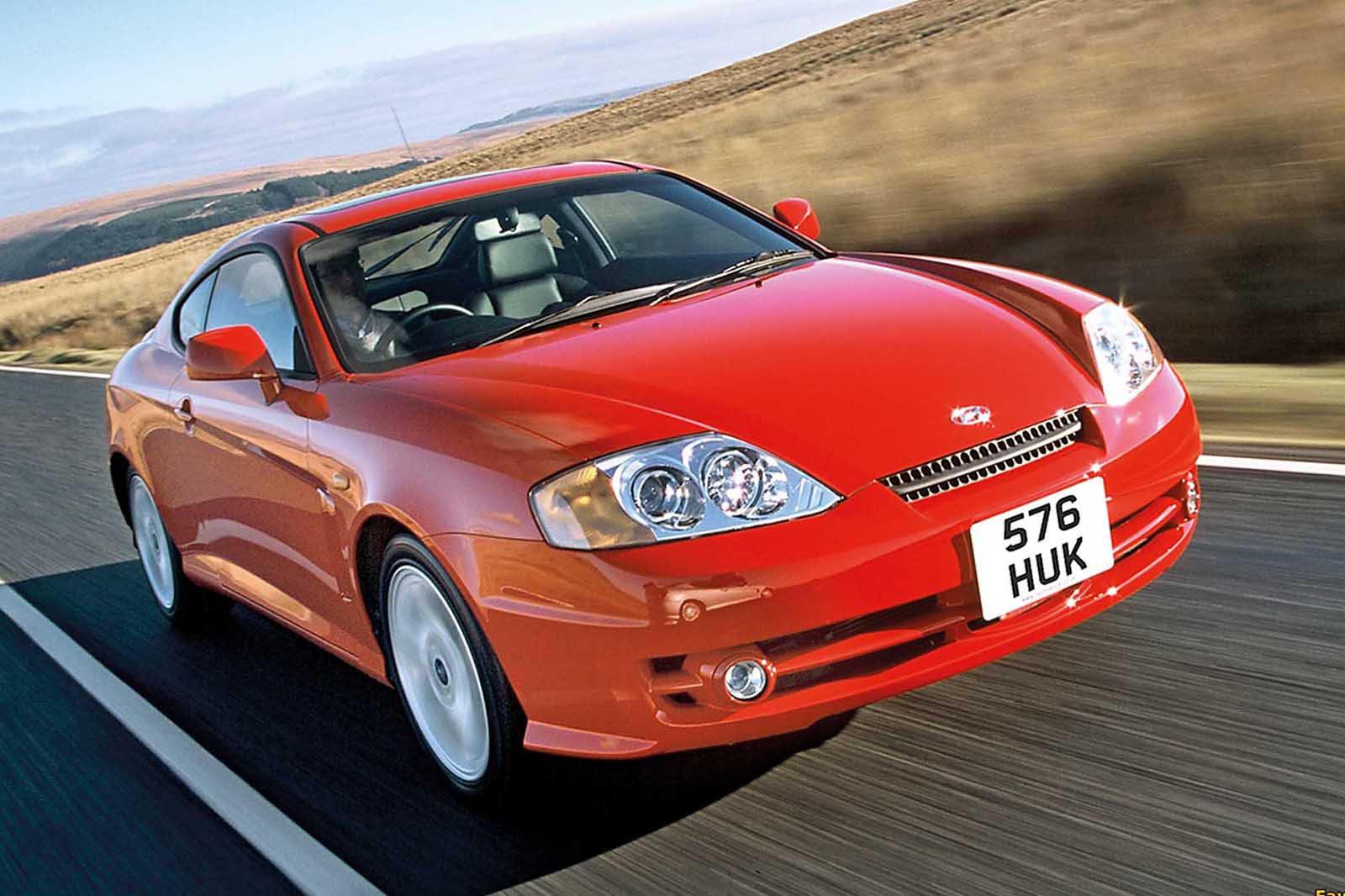 Hyundai Coupe front three quarters