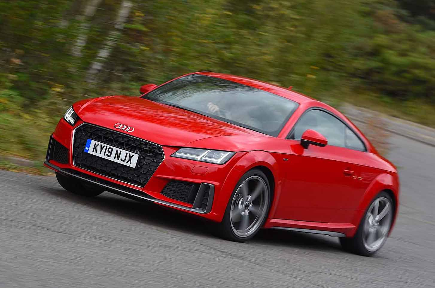 2019 Audi TT Coupe front red