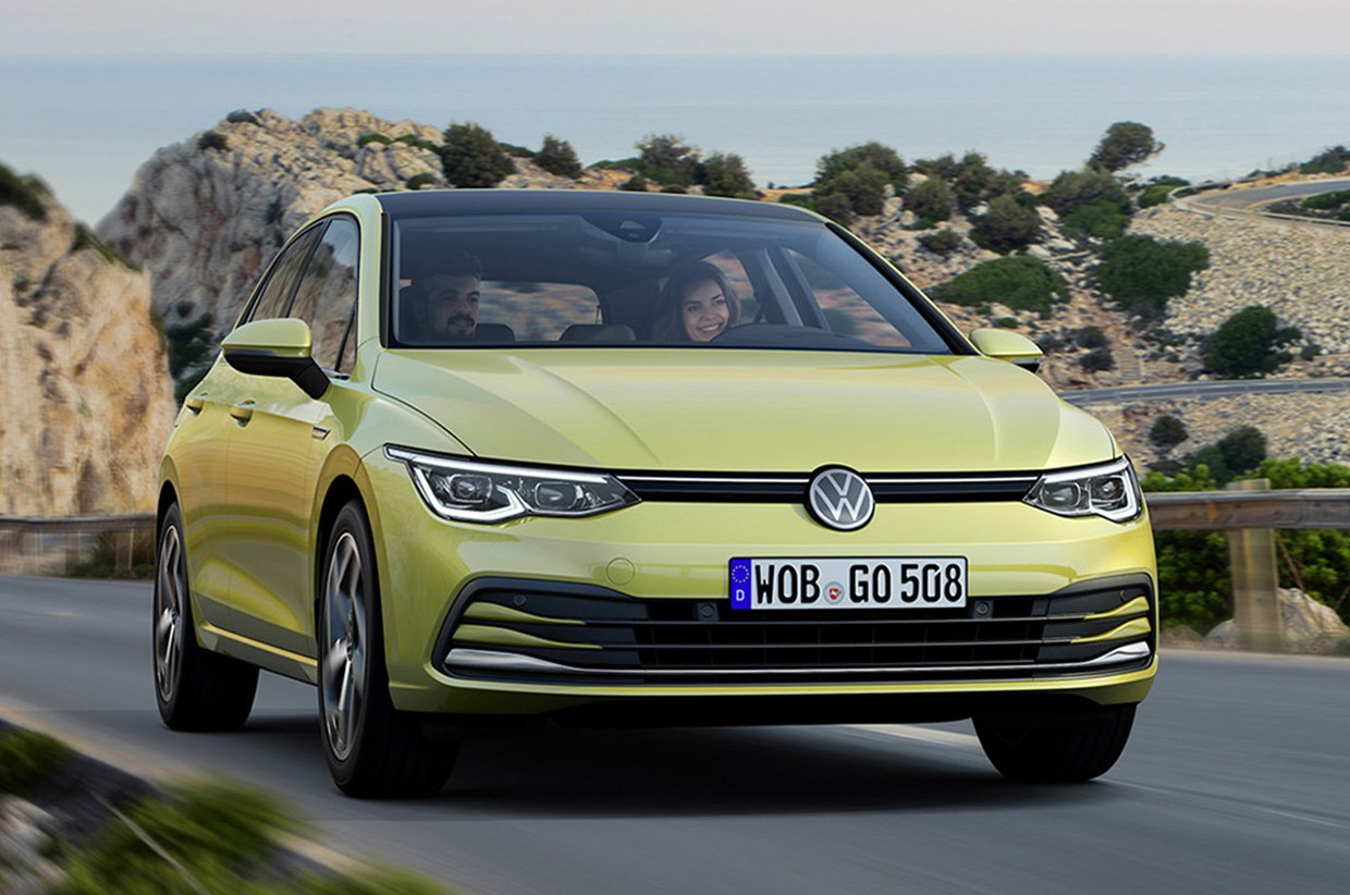 2020 Volkswagen Golf - yellow front