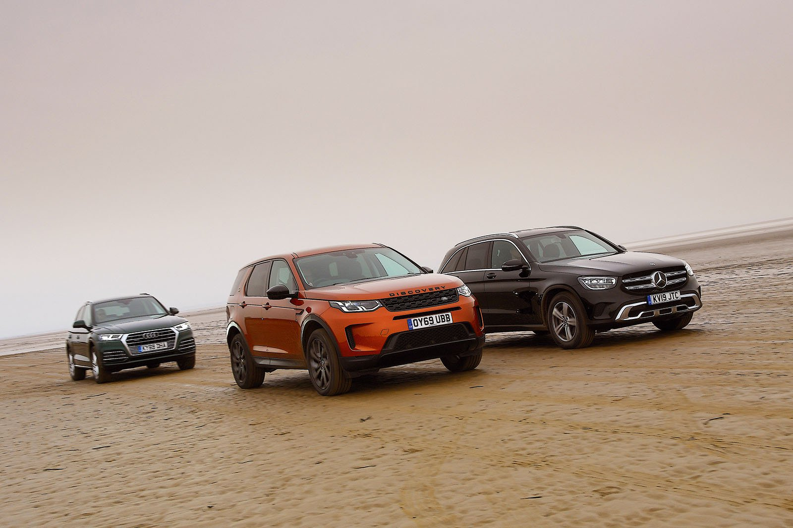 New Land Rover Discovery Sport & Mercedes GLC vs Audi Q5