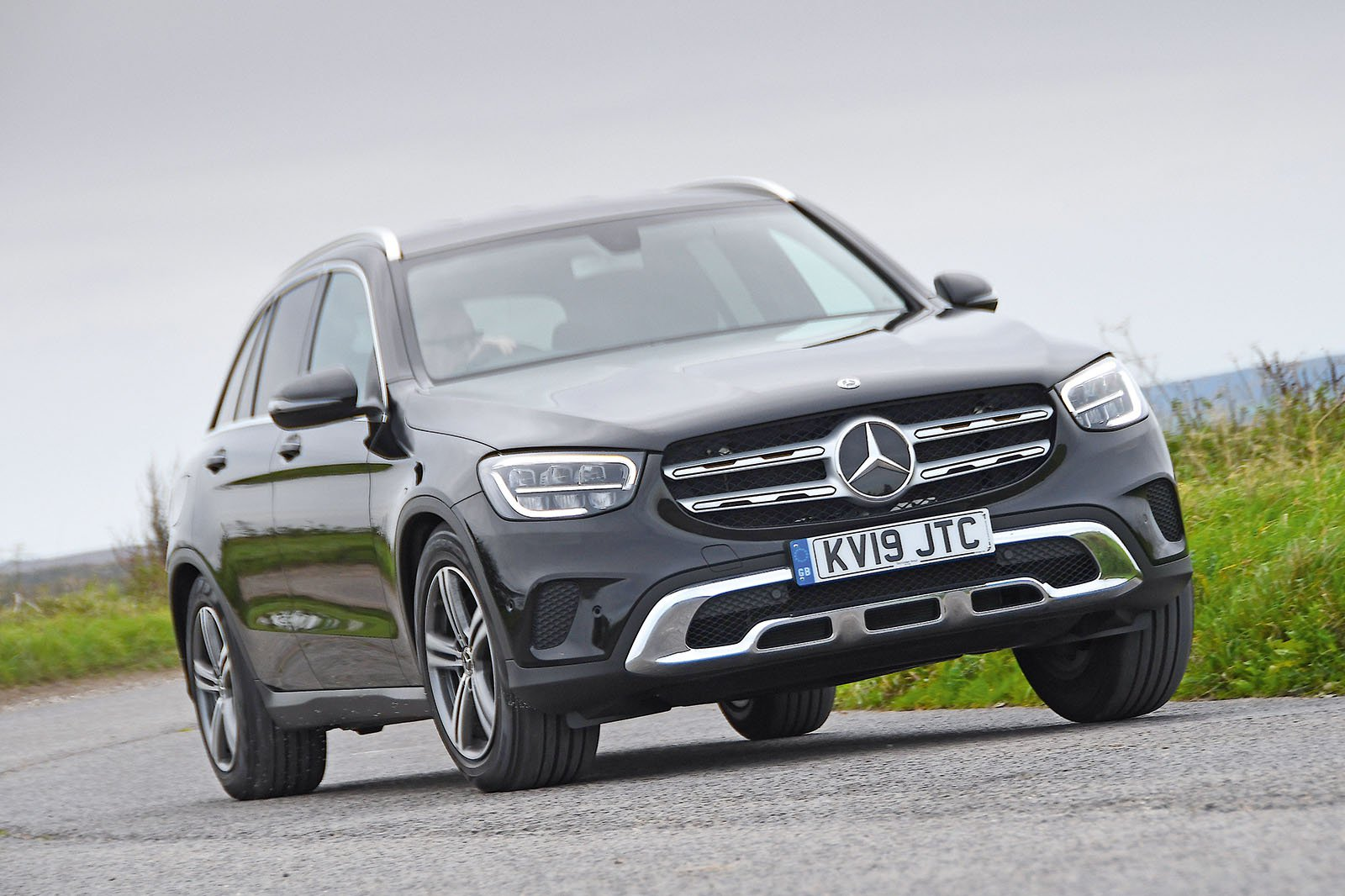 Mercedes GLC driving