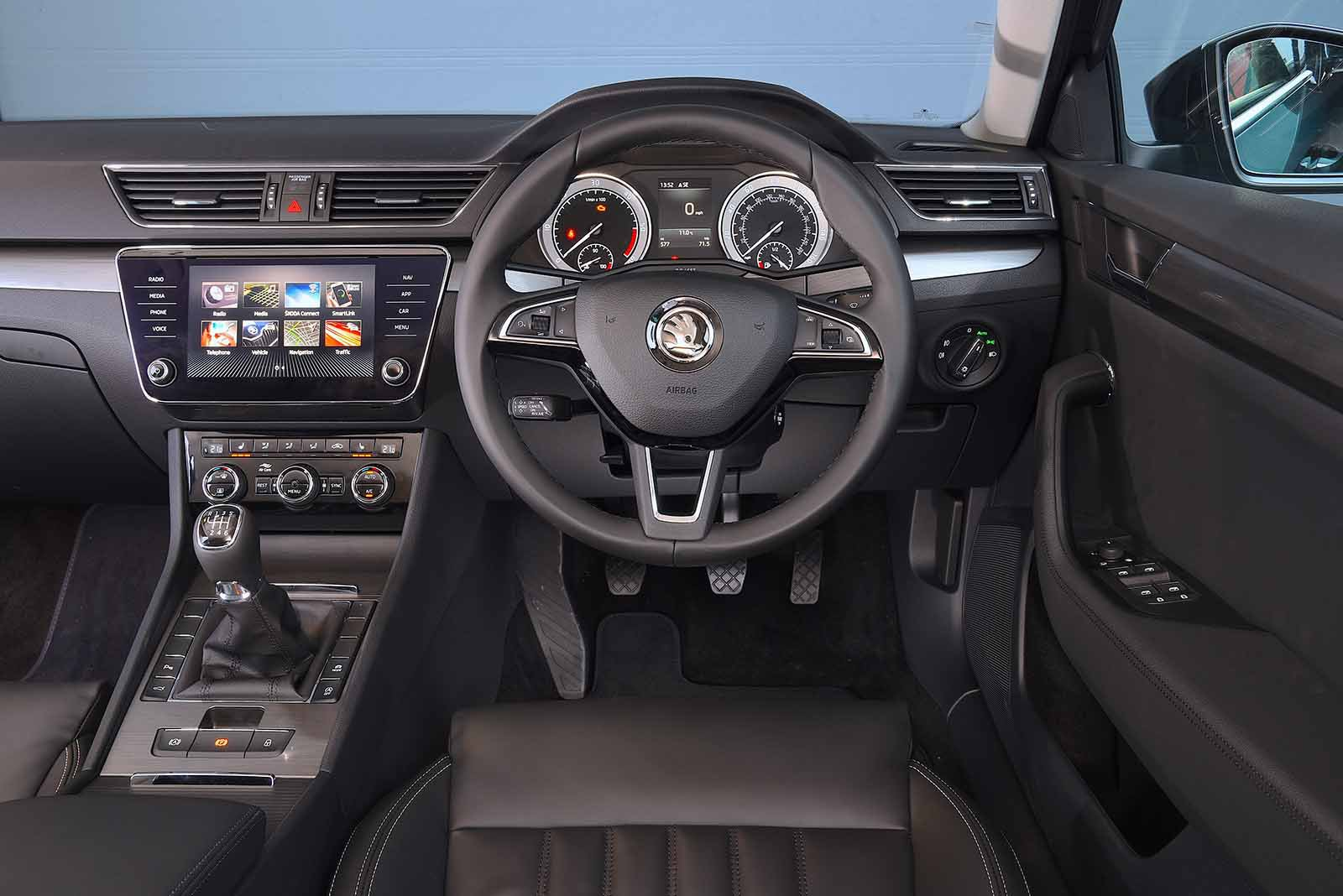 Skoda Superb Estate 2019 dashboard RHD