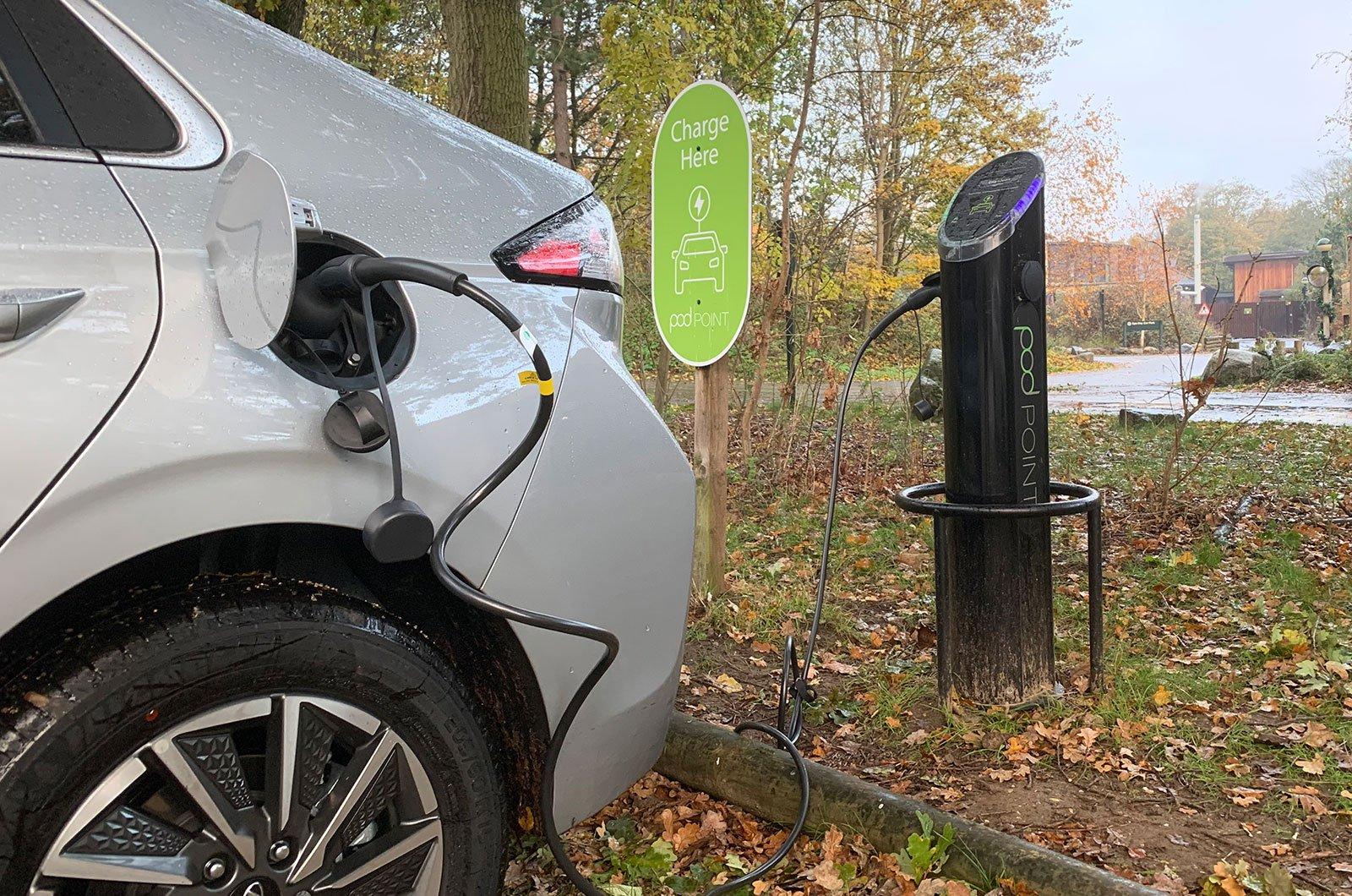 Hyundai Ioniq charging up