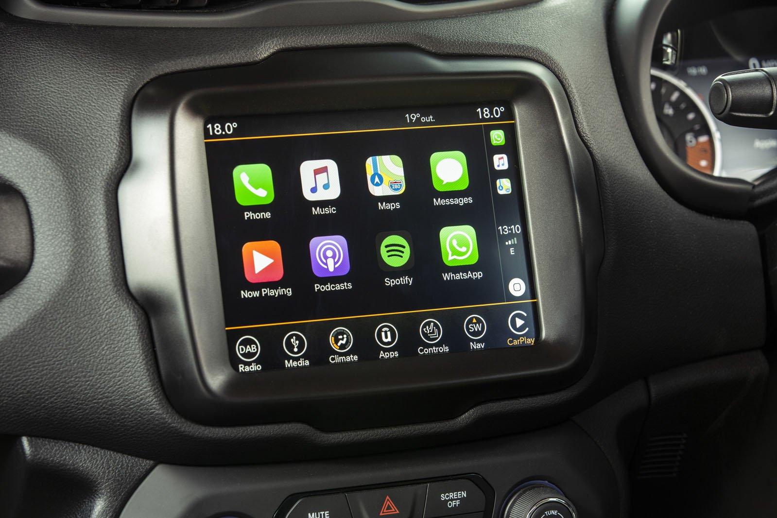 Jeep Renegade 2018 infotainment RHD