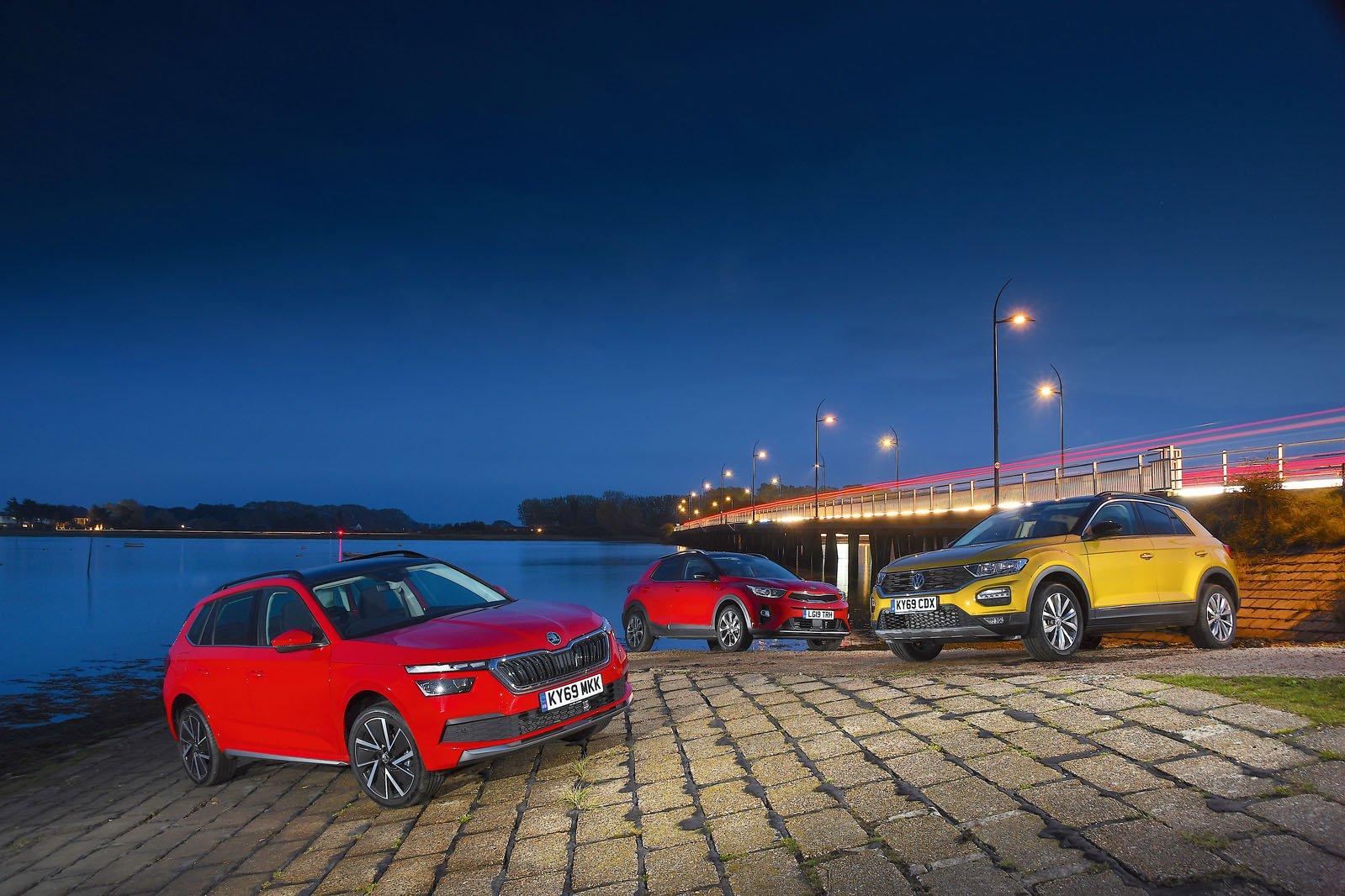 Skoda Kamiq vs Kia Stonic vs Volkswagen T-Roc