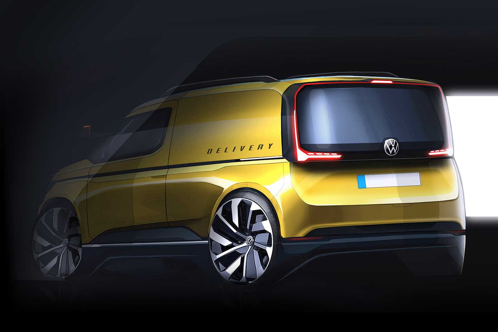 2020 VW Caddy sketch rear