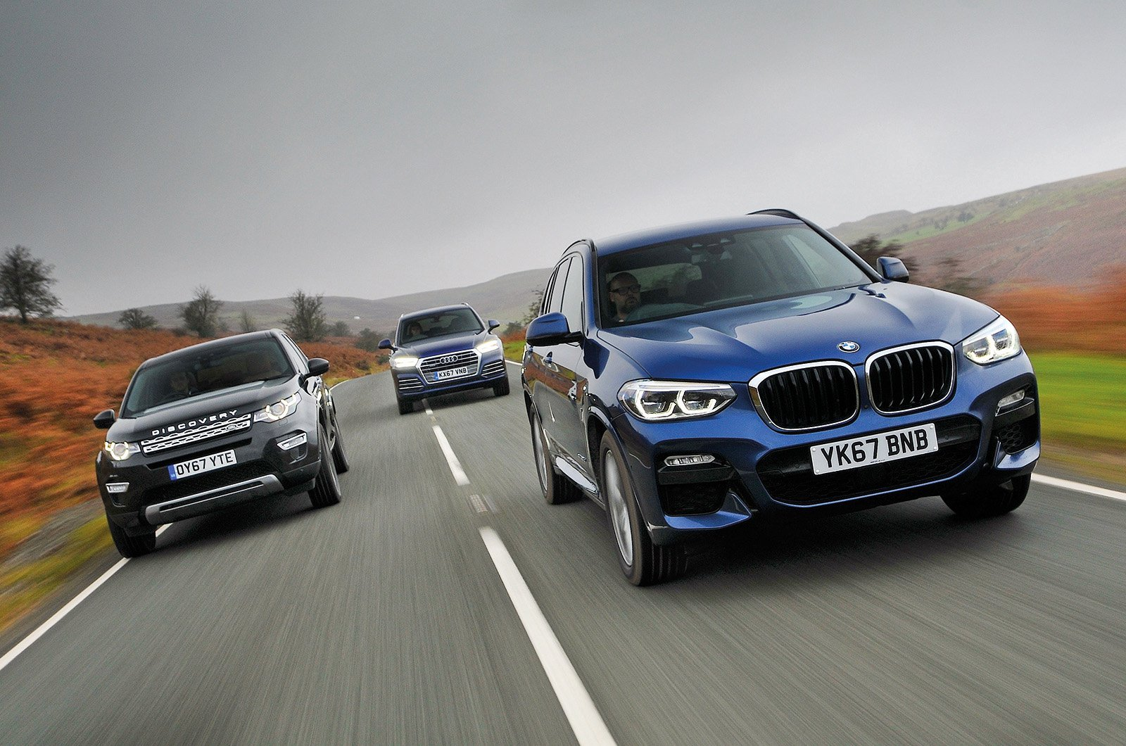 Used test: Audi Q5 vs BMW X3 vs Land Rover Discovery Sport