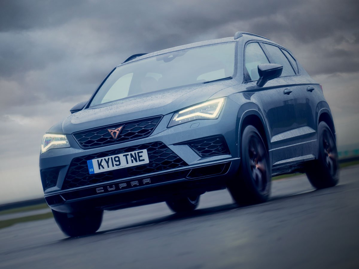 The CUPRA Ateca's performance really comes alive on the track