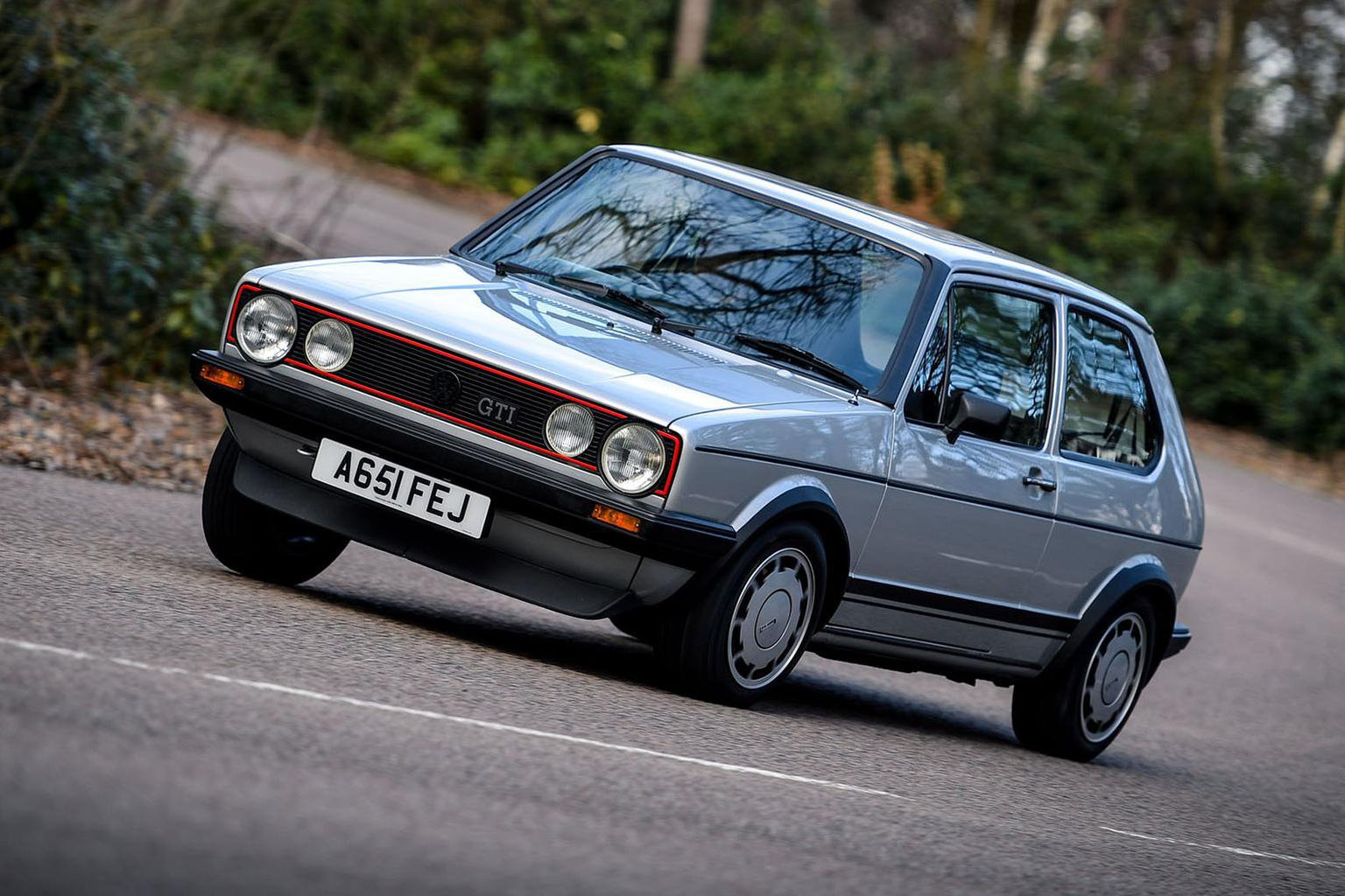 Volkswagen Golf GTI front three quarters