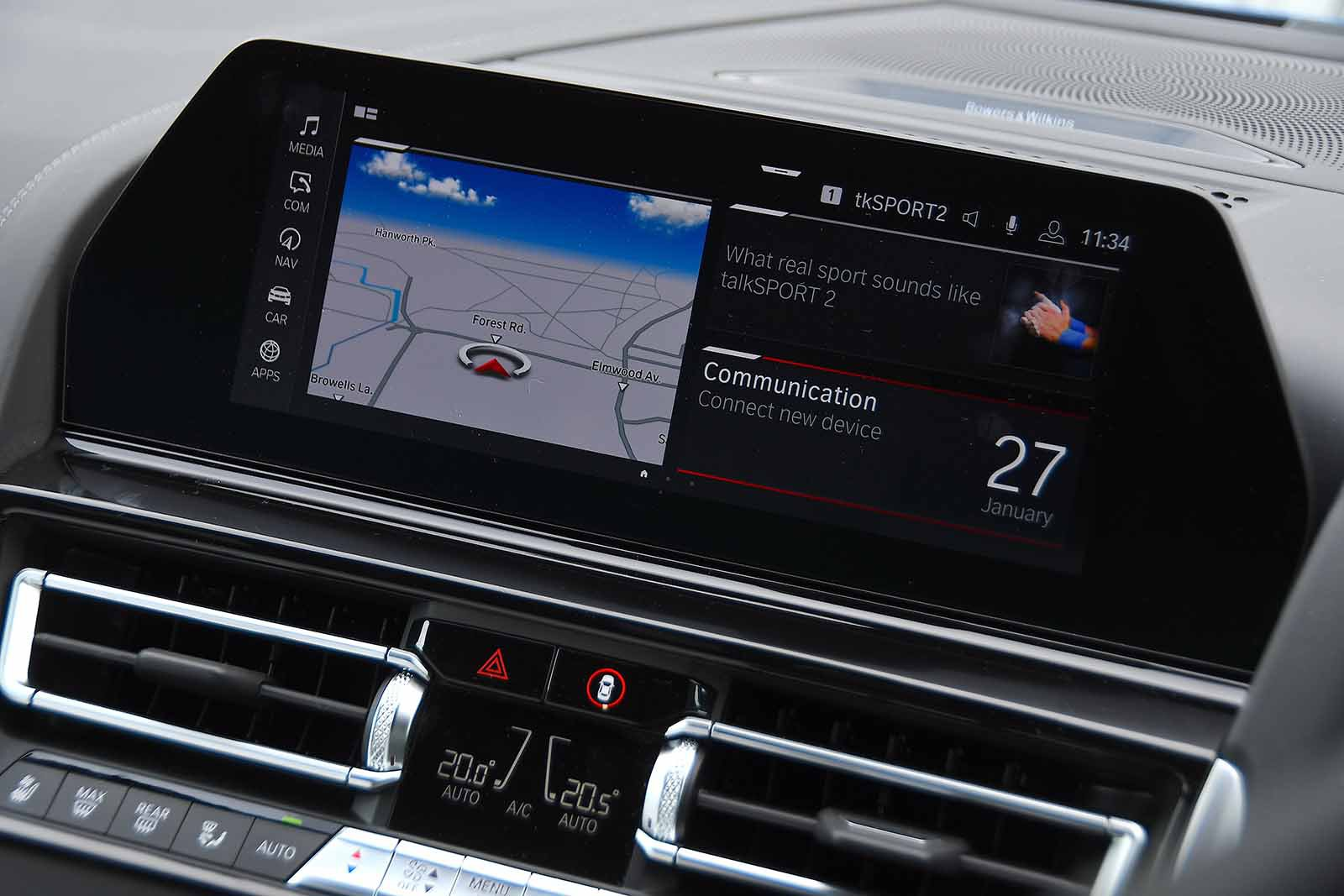 BMW M8 Competition 2020 RHD infotainment