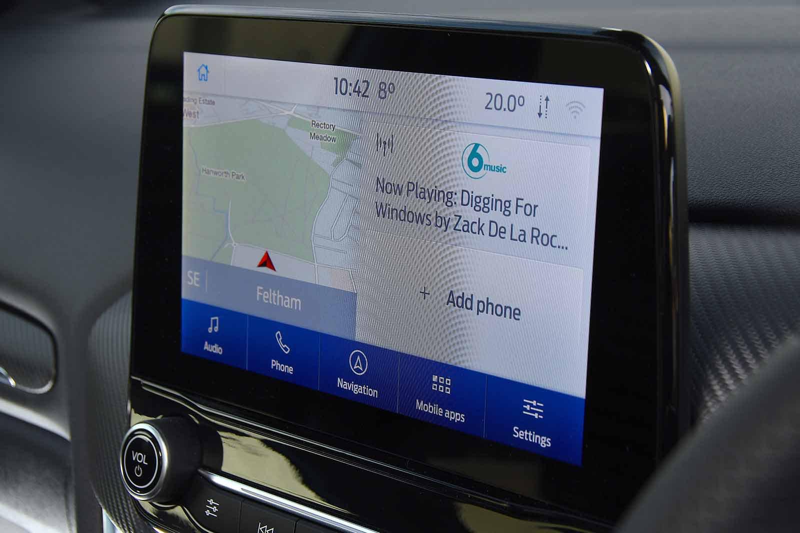 Ford Puma 2020 infotainment RHD
