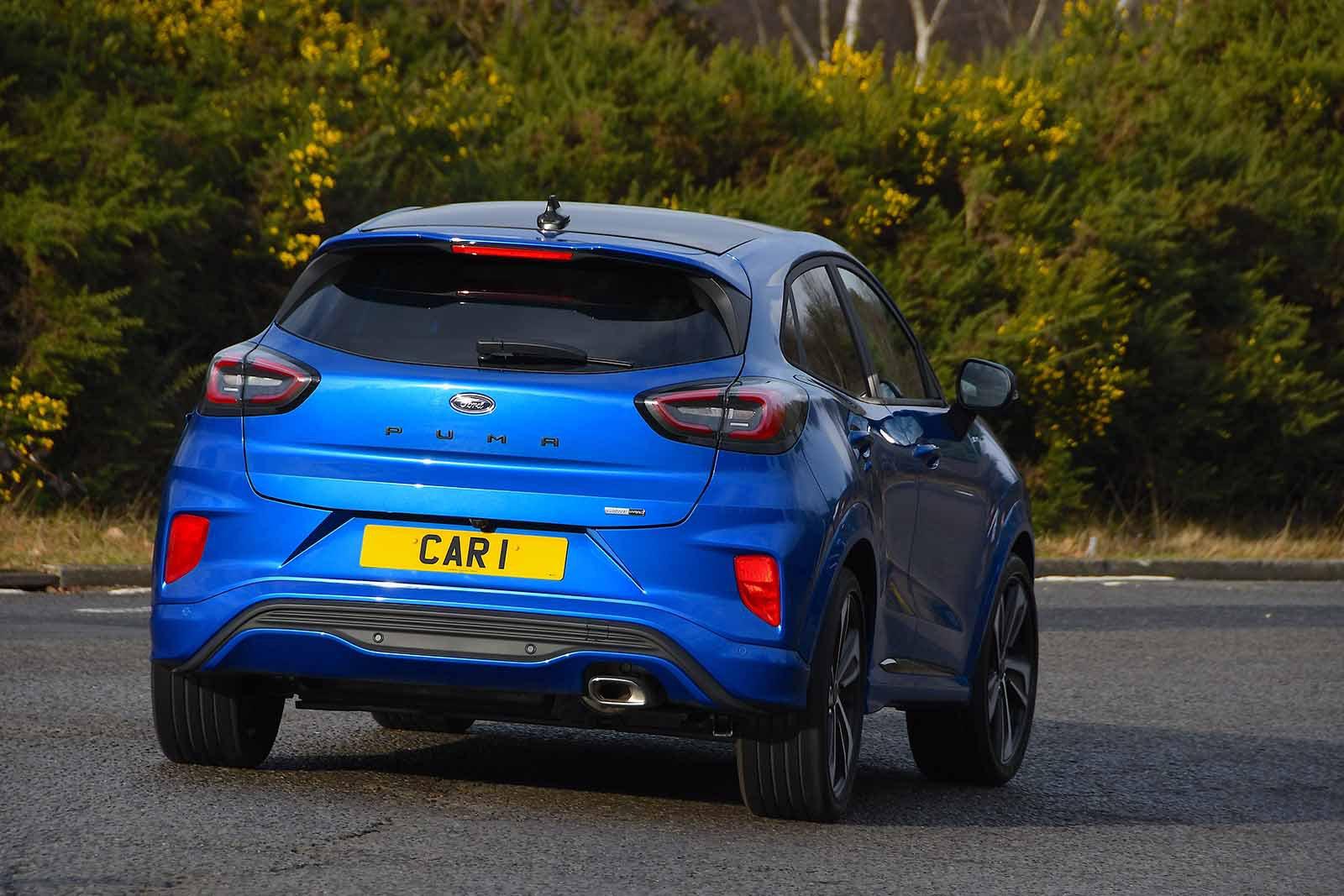 Ford Puma 2020 rear tracking RHD
