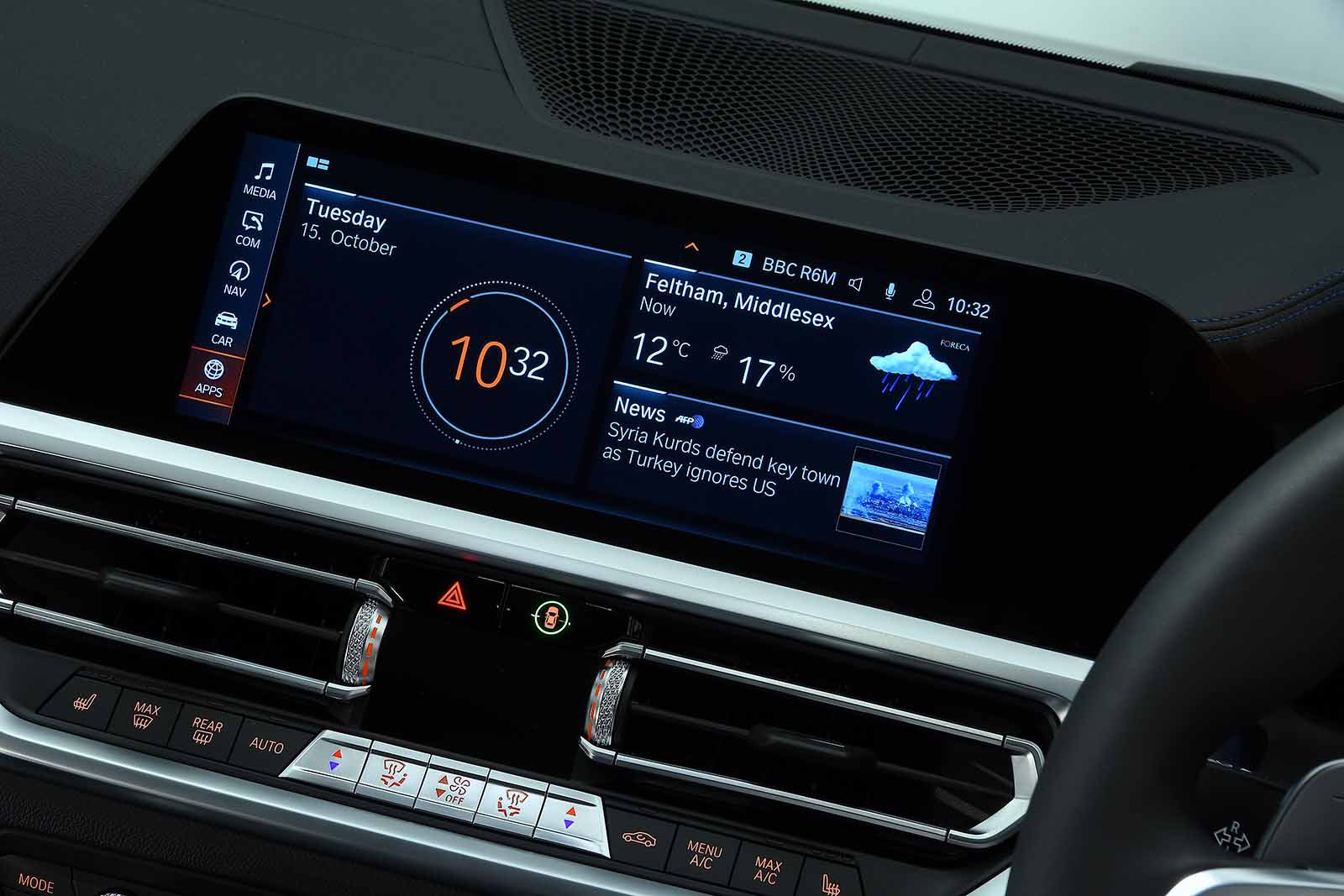 BMW 3 Series Saloon 2019 infotainment RHD