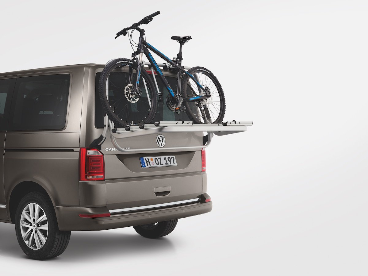 Vans aren't just for work. You can get a range of tailgate and roof bicycle holders that are perfect for play