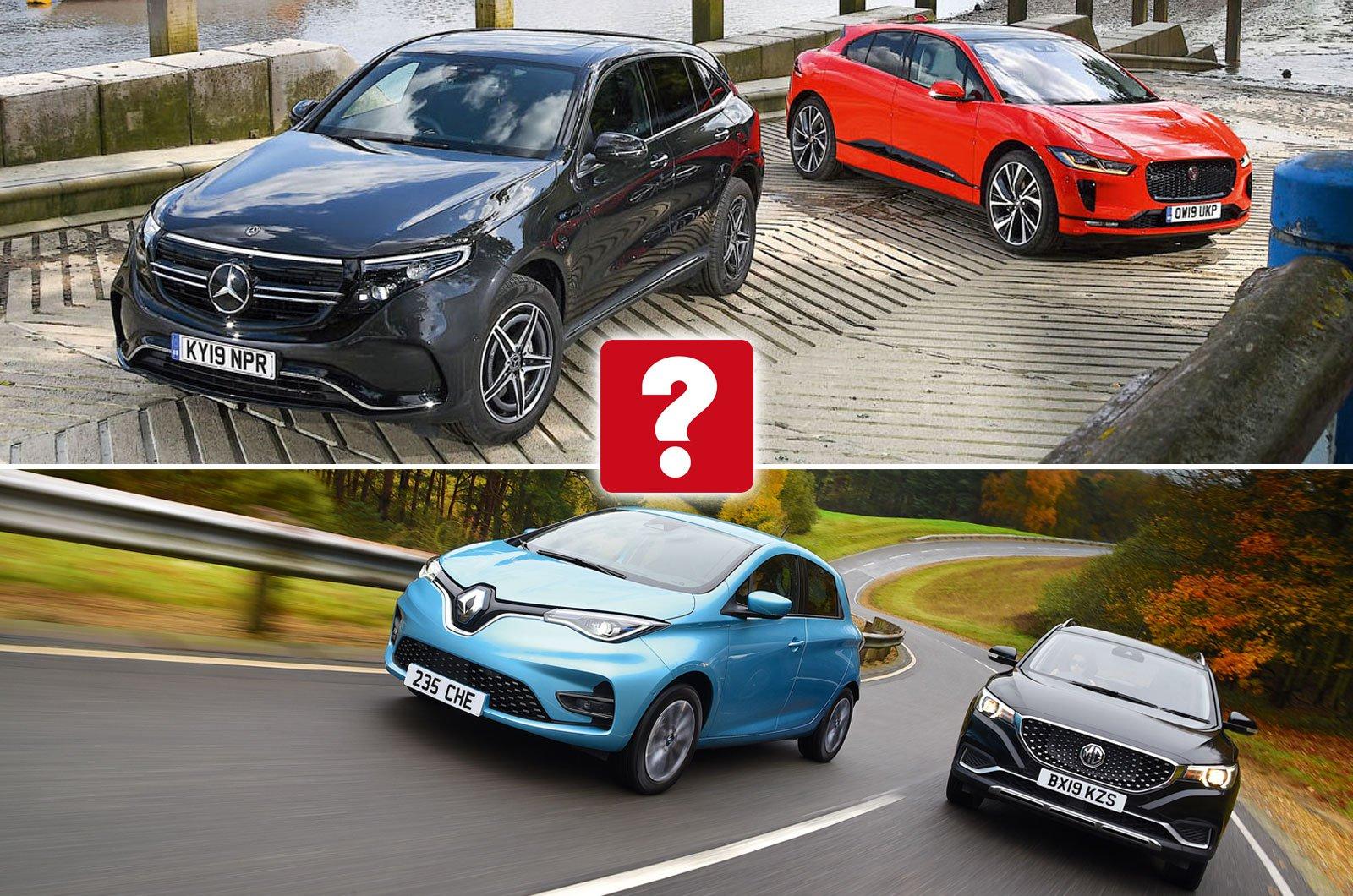 Mercedes EQC, Jaguar I-Pace, Renault Zoe, MG ZS EV