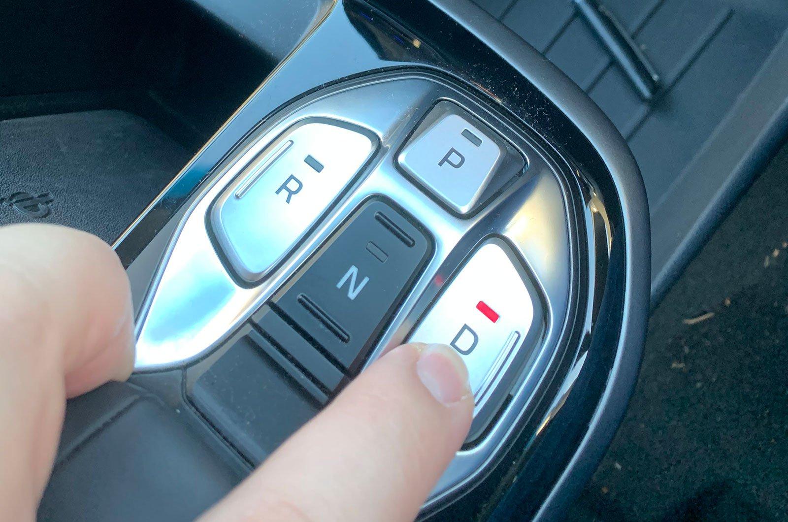Hyundai Ioniq Electric drive selector