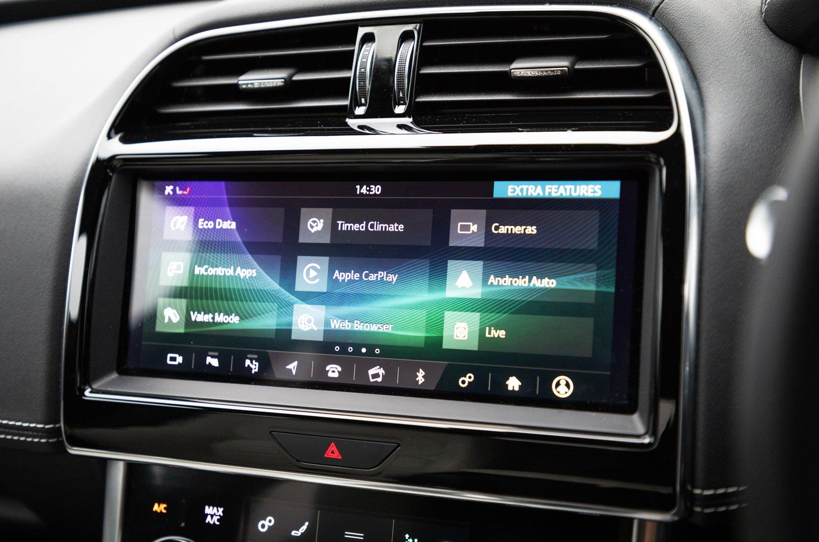 LT Jaguar XE upper touchscreen