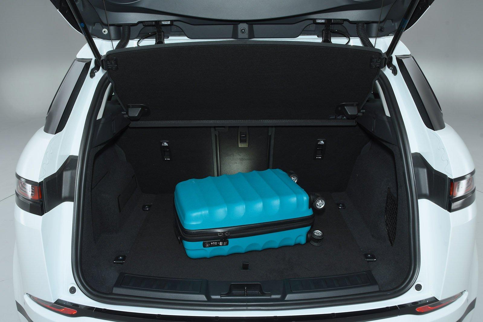 2019 Land Rover Range Rover Evoque boot open RHD