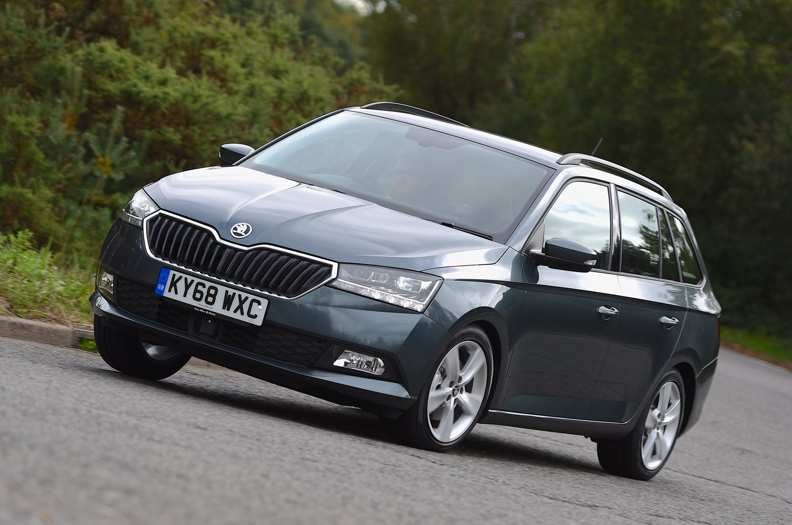 Skoda Fabia Estate front - grey