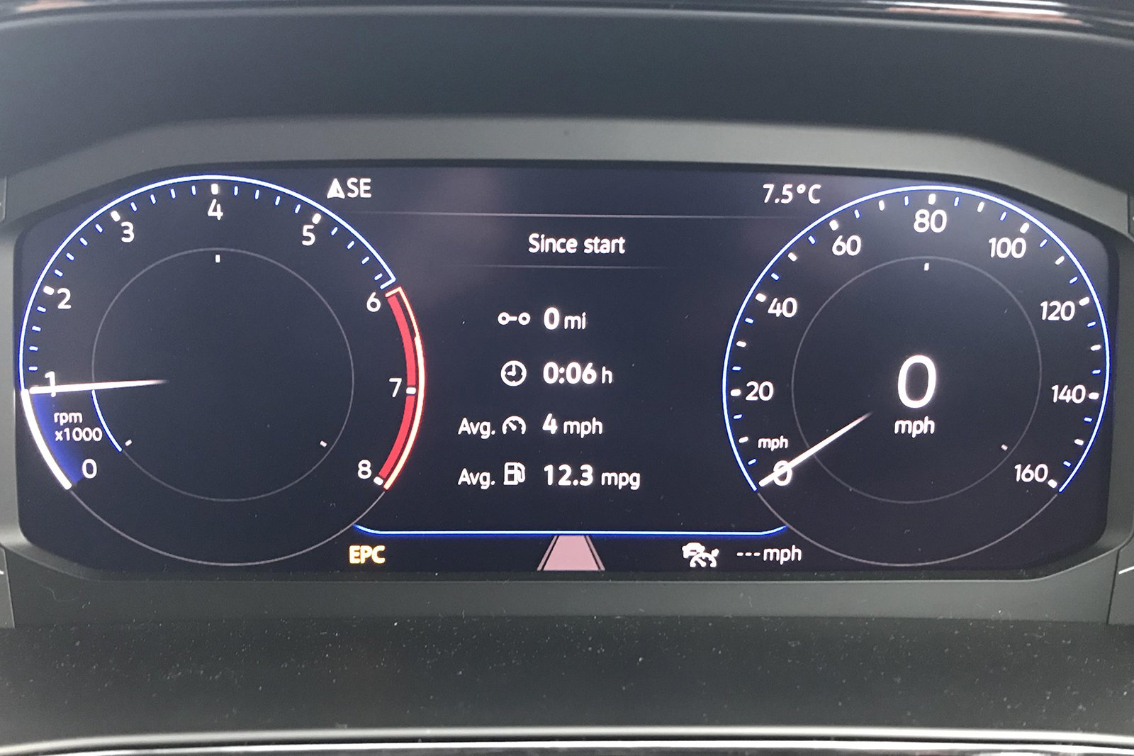 VW T-Cross EPC light