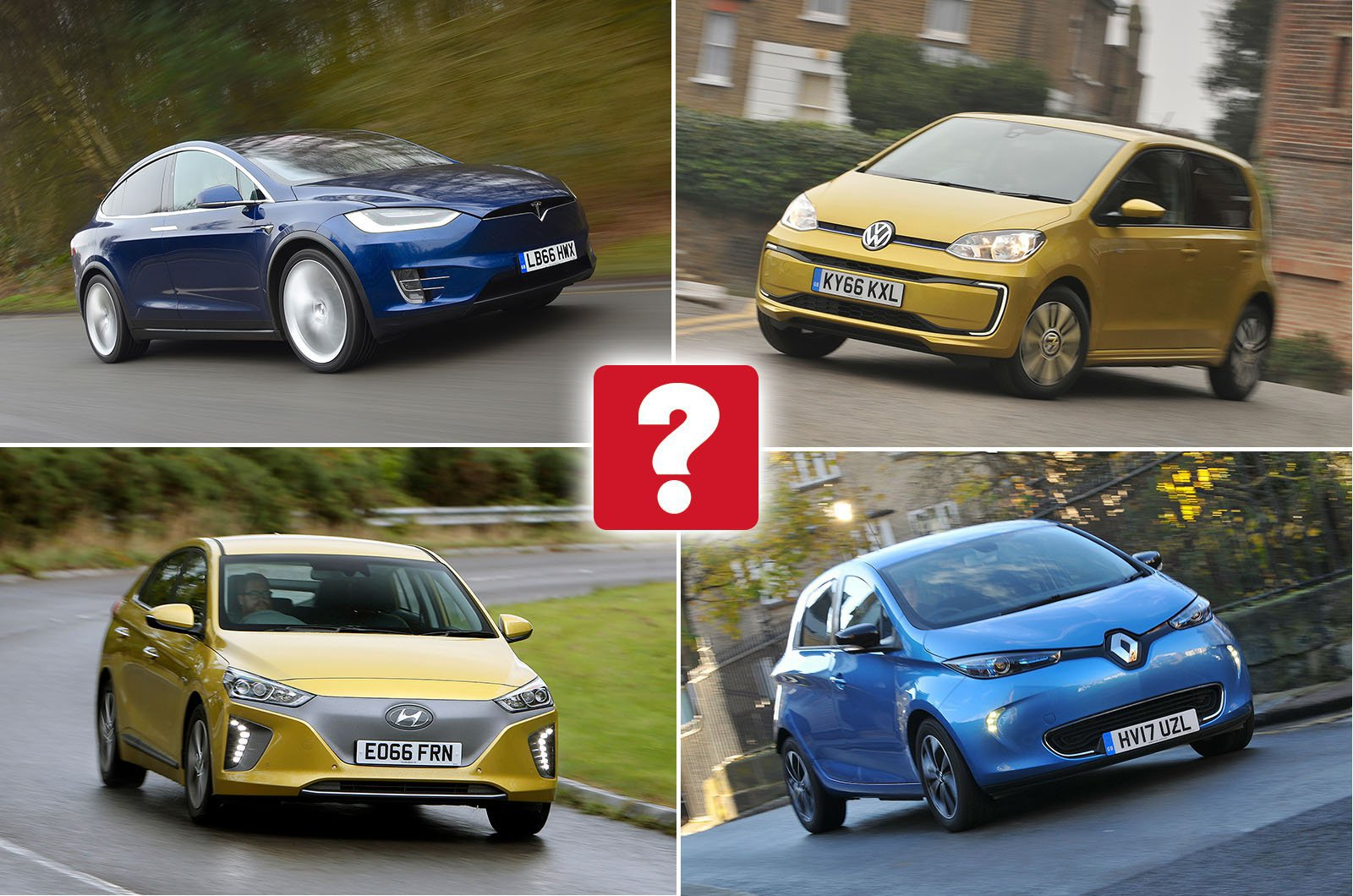 Electric car compilation image