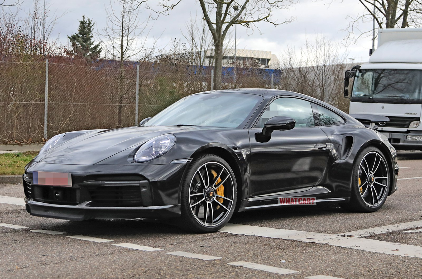 Porsche 911 Turbo S spyshot