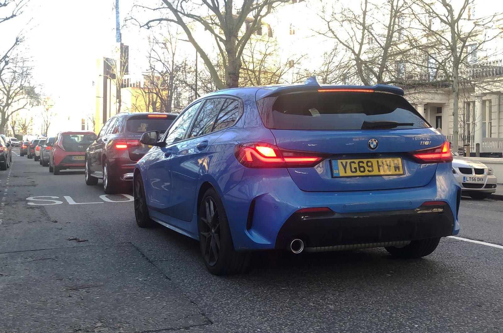 BMW 1 Series in traffic